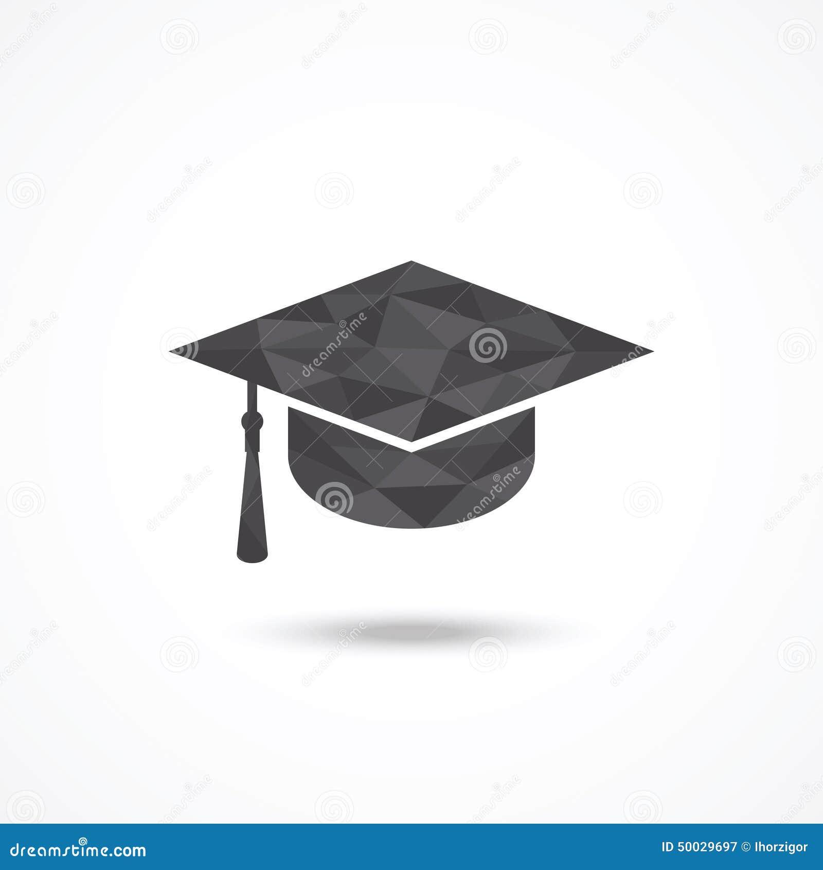 背景盖帽毕业查出的白色