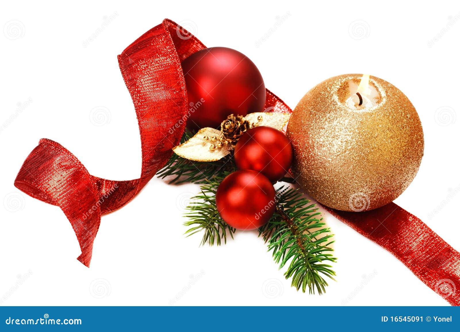 背景空白圣诞节的装饰