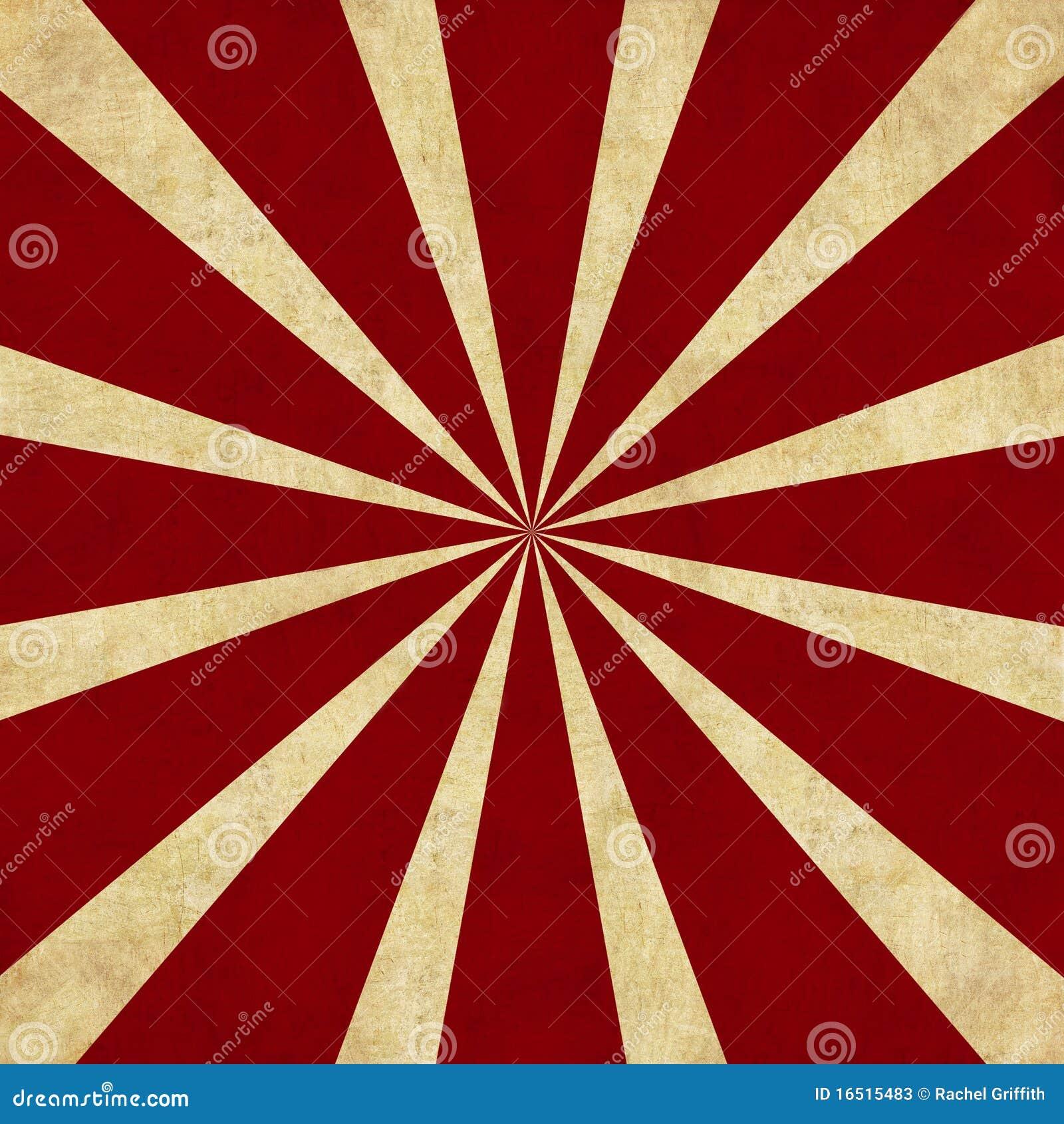 背景红色减速火箭的starburst
