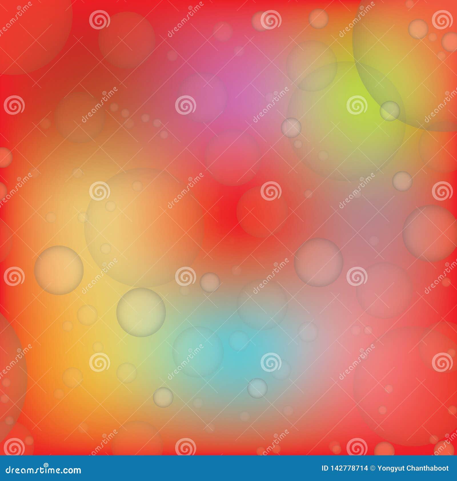 背景红色橙色Bokeh,传染媒介例证 EPS10