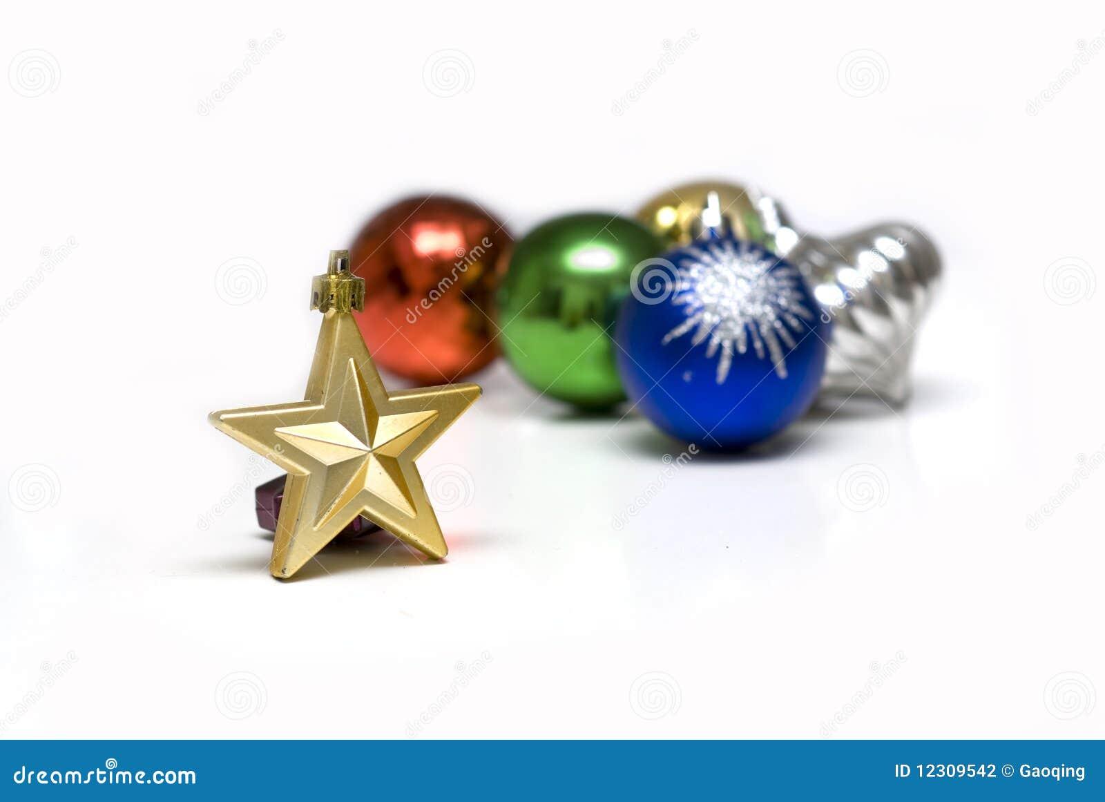 背景美丽的圣诞节装饰品