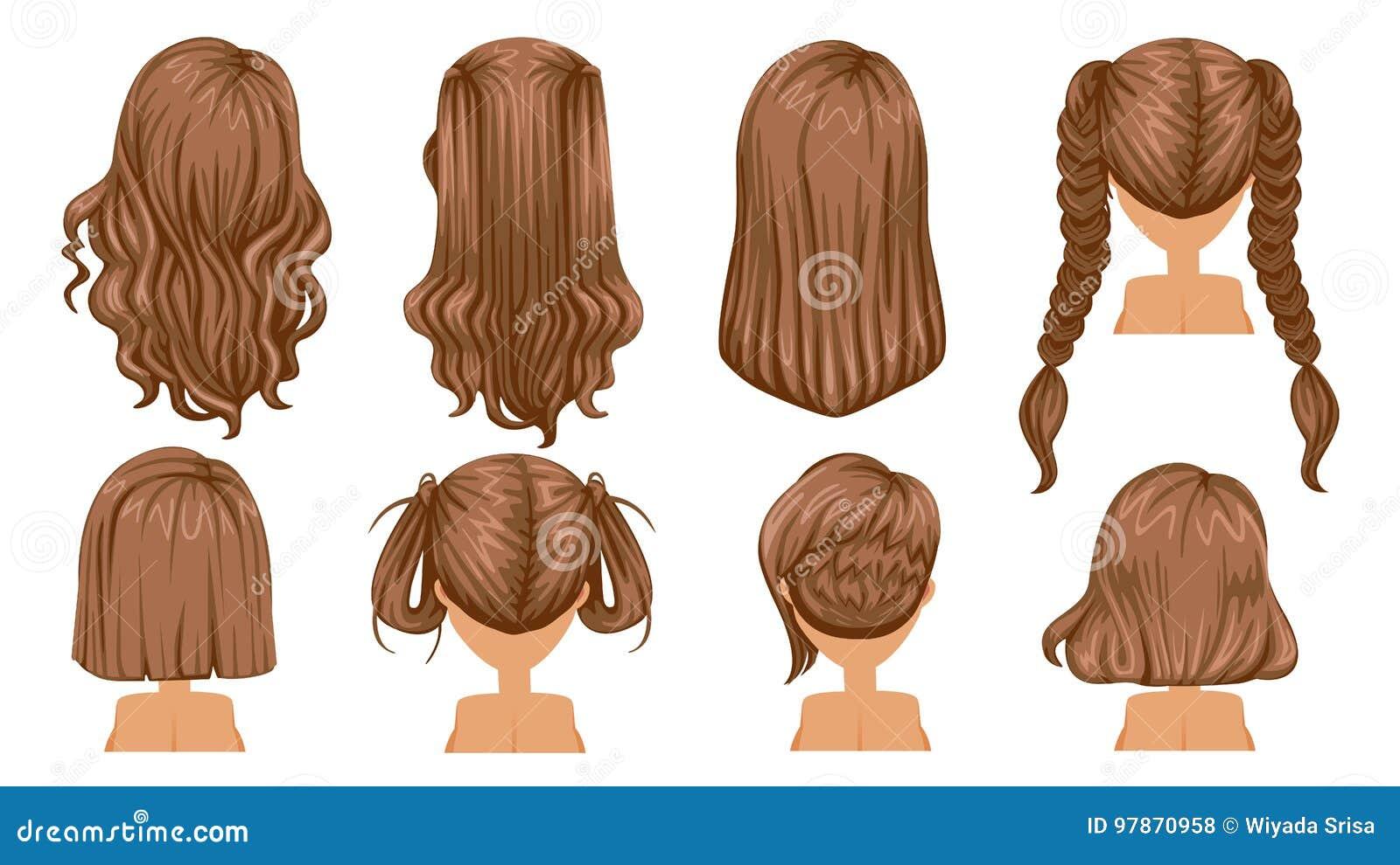 背景美丽的棕色卷曲女孩头发健康查出的粉红色
