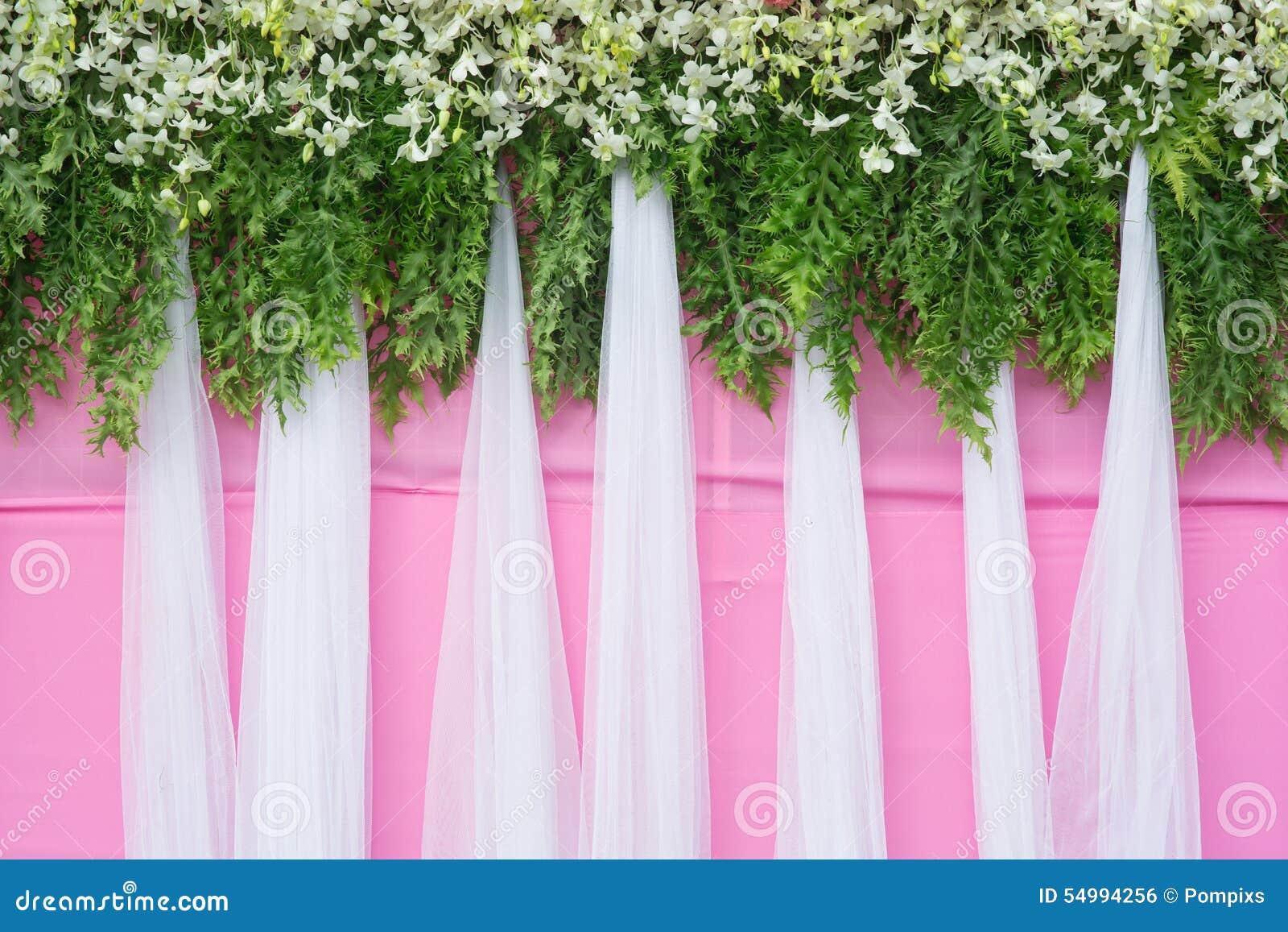 背景美丽的花婚礼装饰
