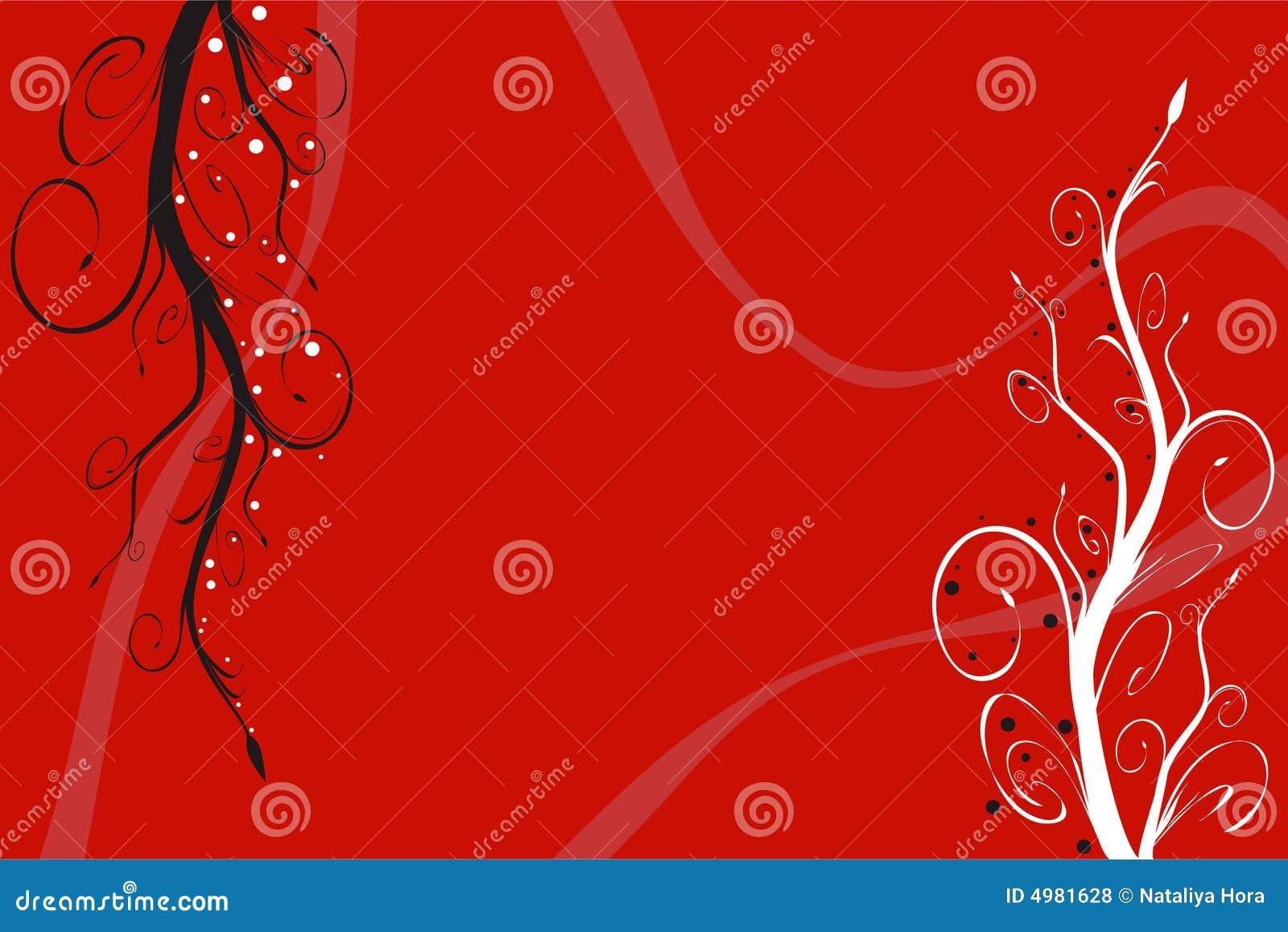 背景花卉红色