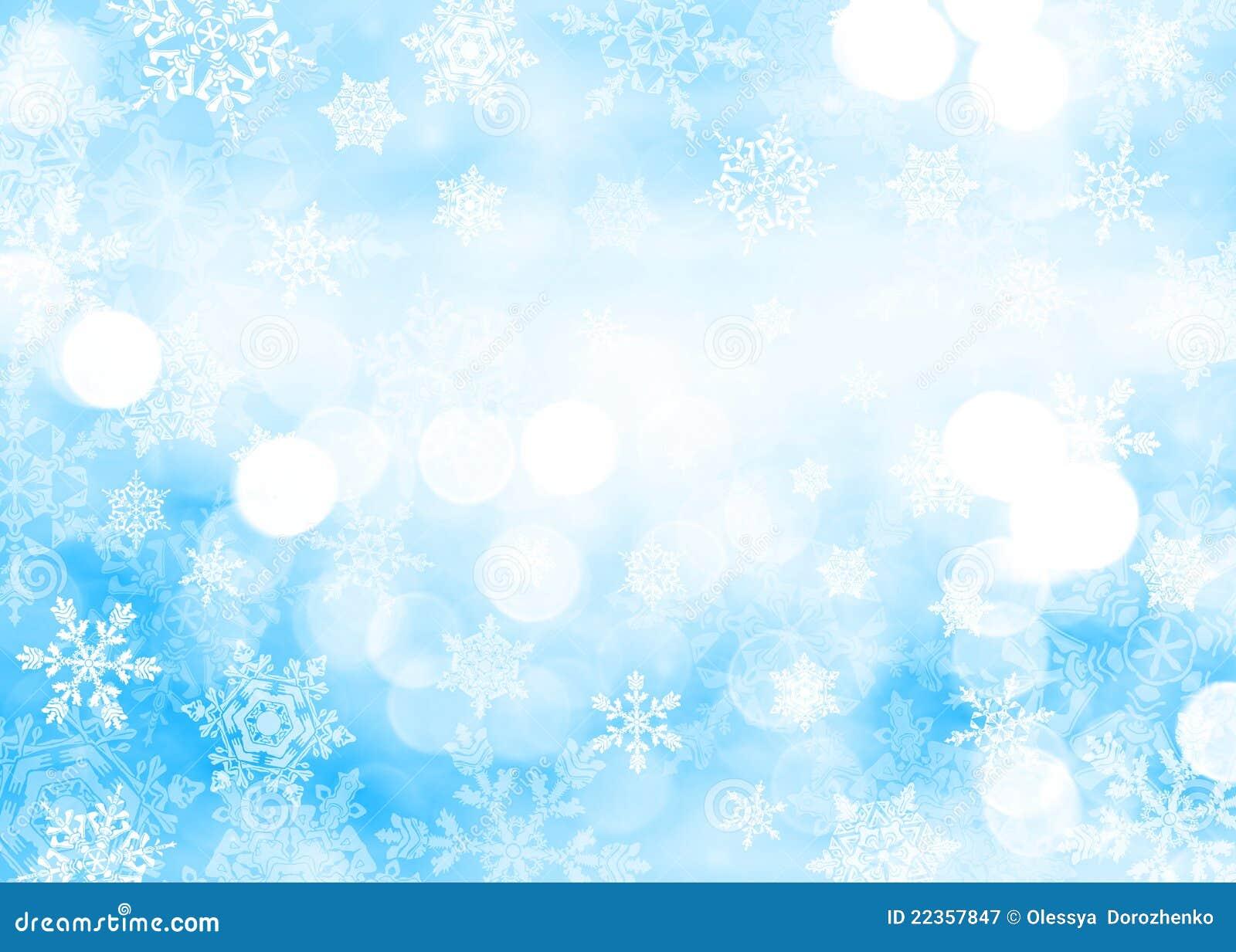 背景蓝色圣诞节雪花