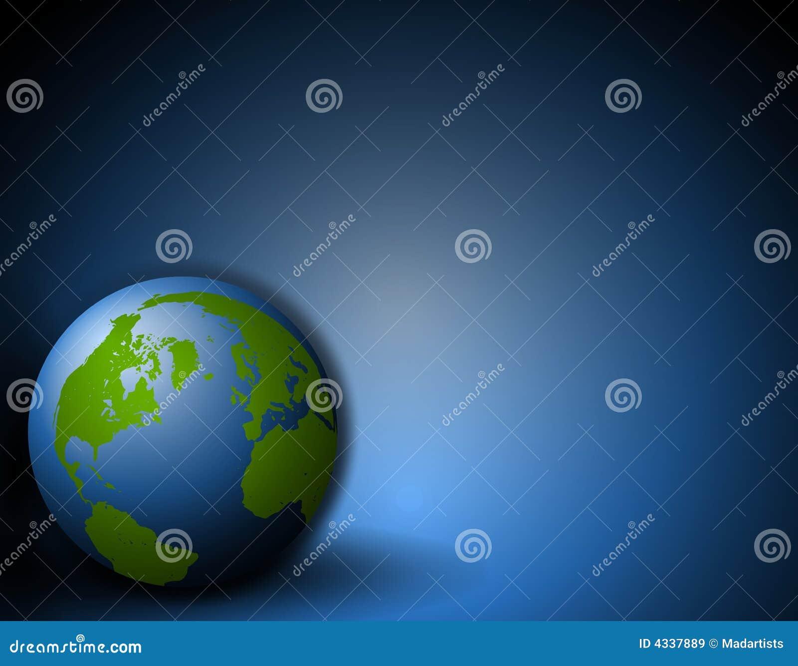 背景蓝色地球地面开会