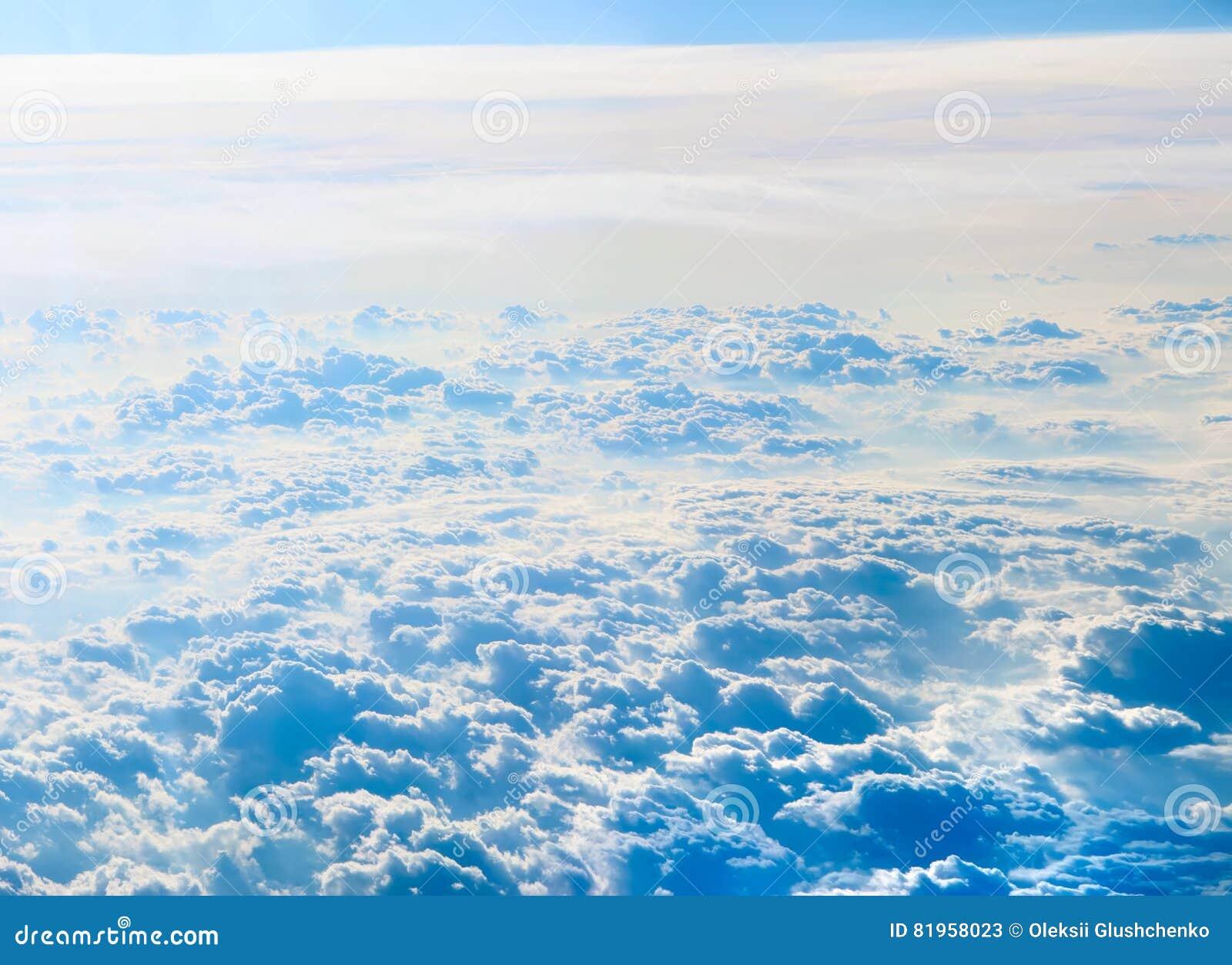 背景蓝色覆盖cloudscape天空 蓝天和空白云彩