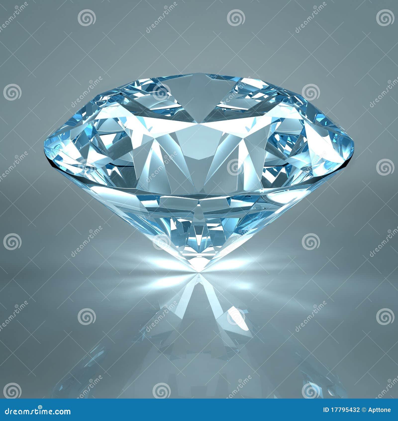 背景蓝色金刚石查出的珠宝光