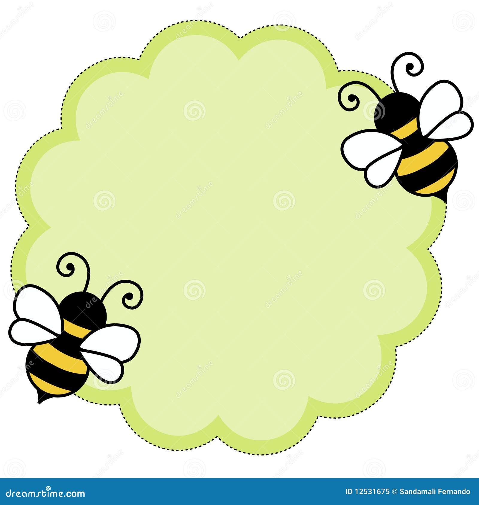 背景蜂便条纸