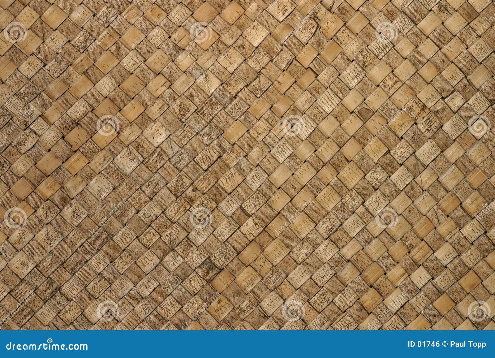 背景被编织的模式茅草屋顶