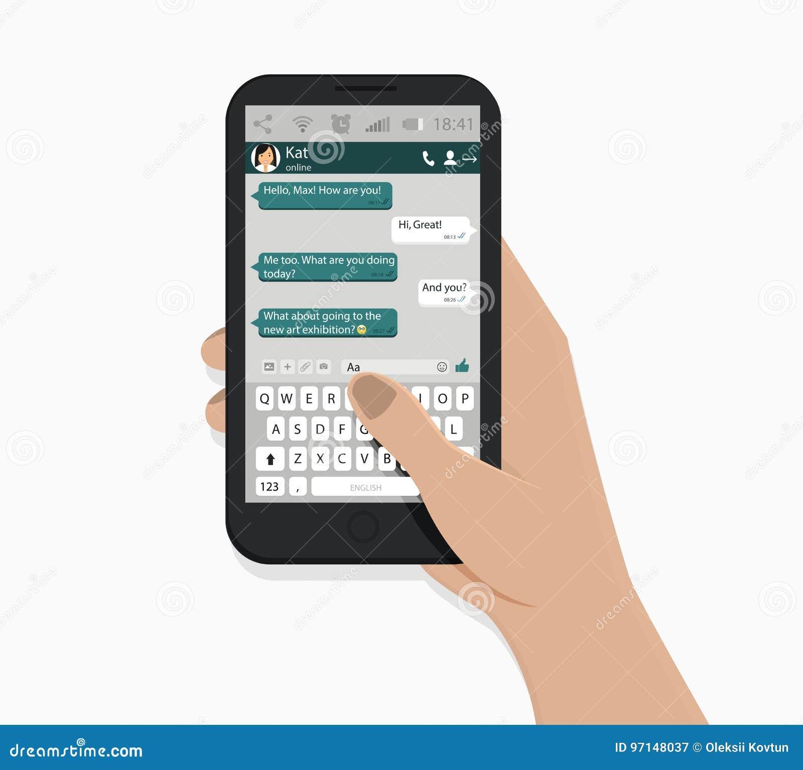 背景银行现有量藏品注意smartphone 也corel凹道例证向量 奶油被装载的饼干 绿色讲话泡影 传讯概念