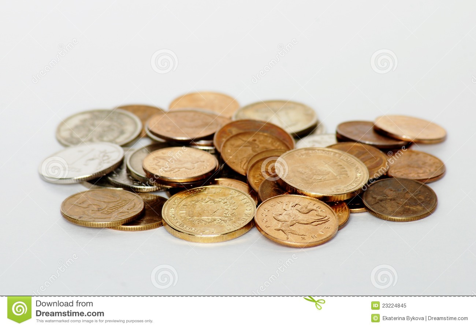 背景铸造许多货币俄国白色