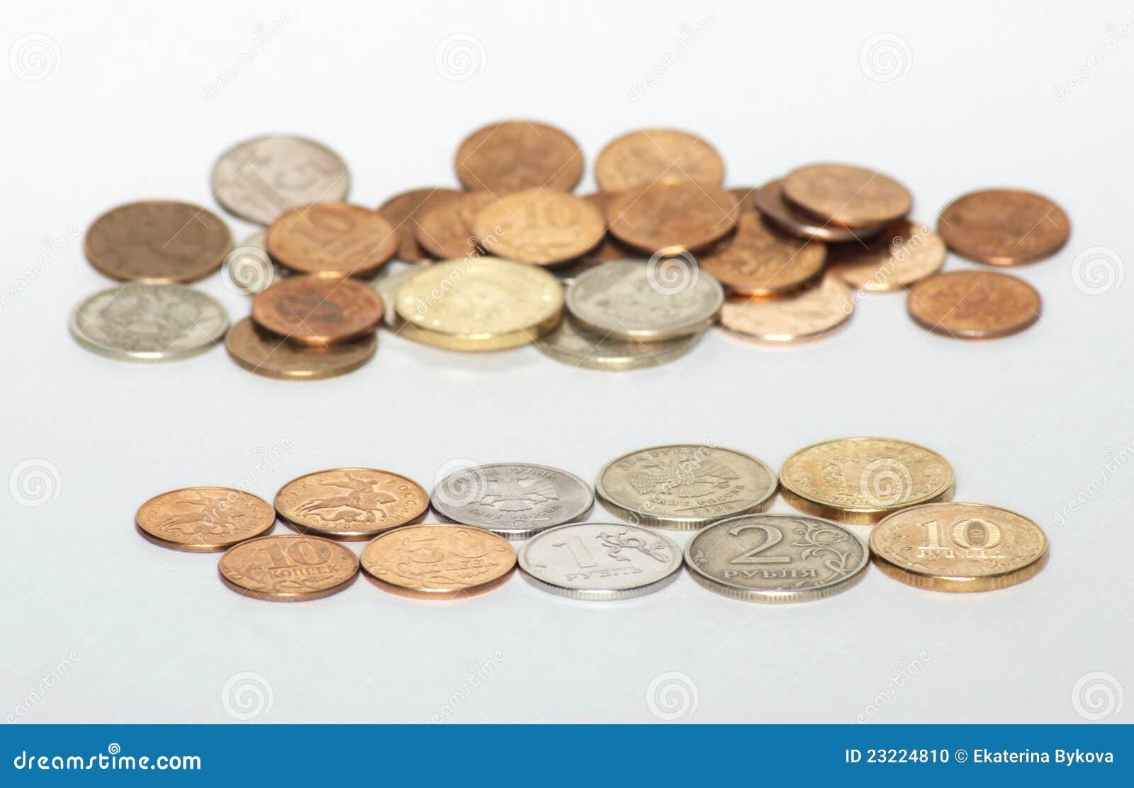 背景铸造货币俄国白色