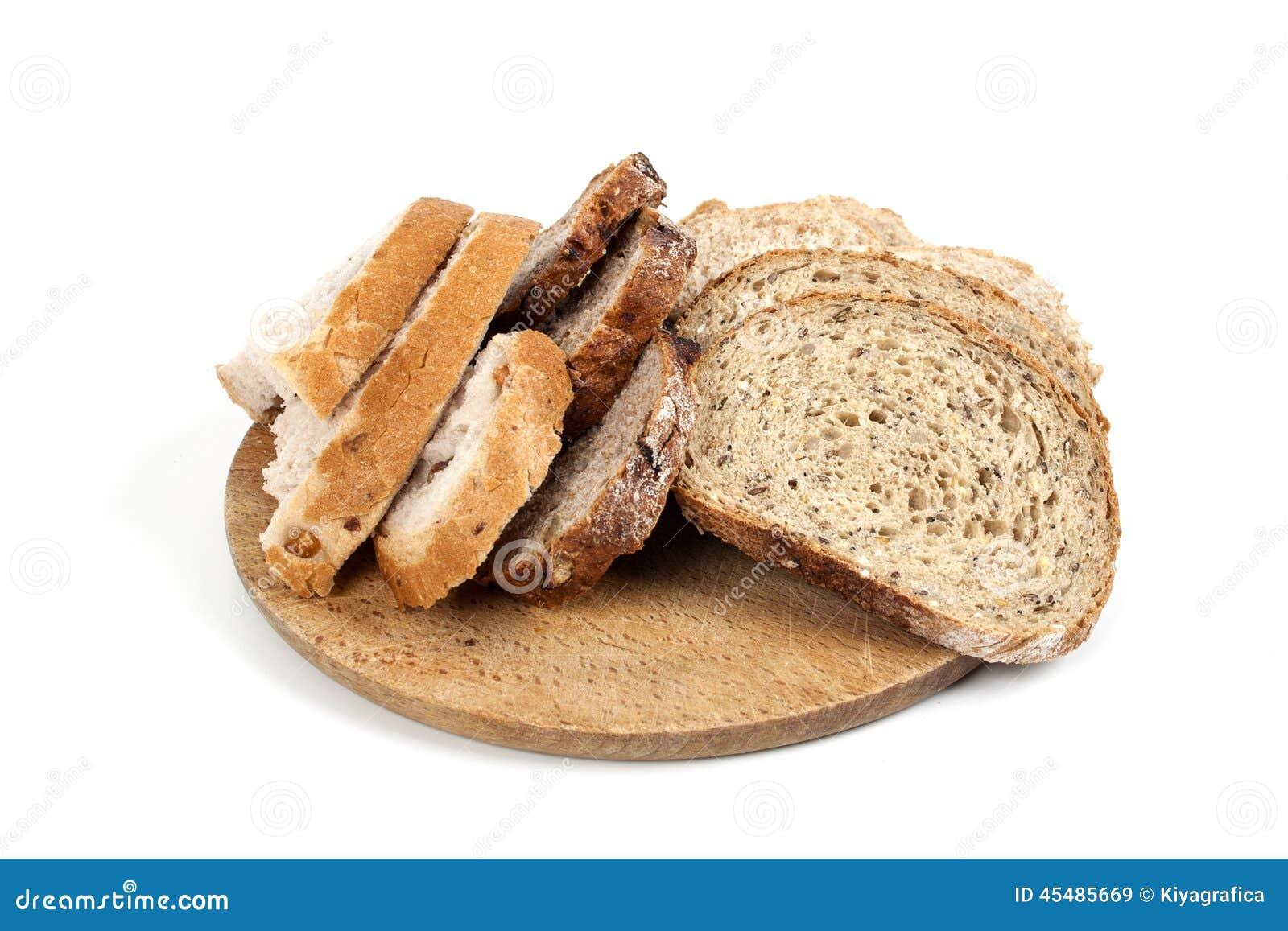 背景面包查出的白色