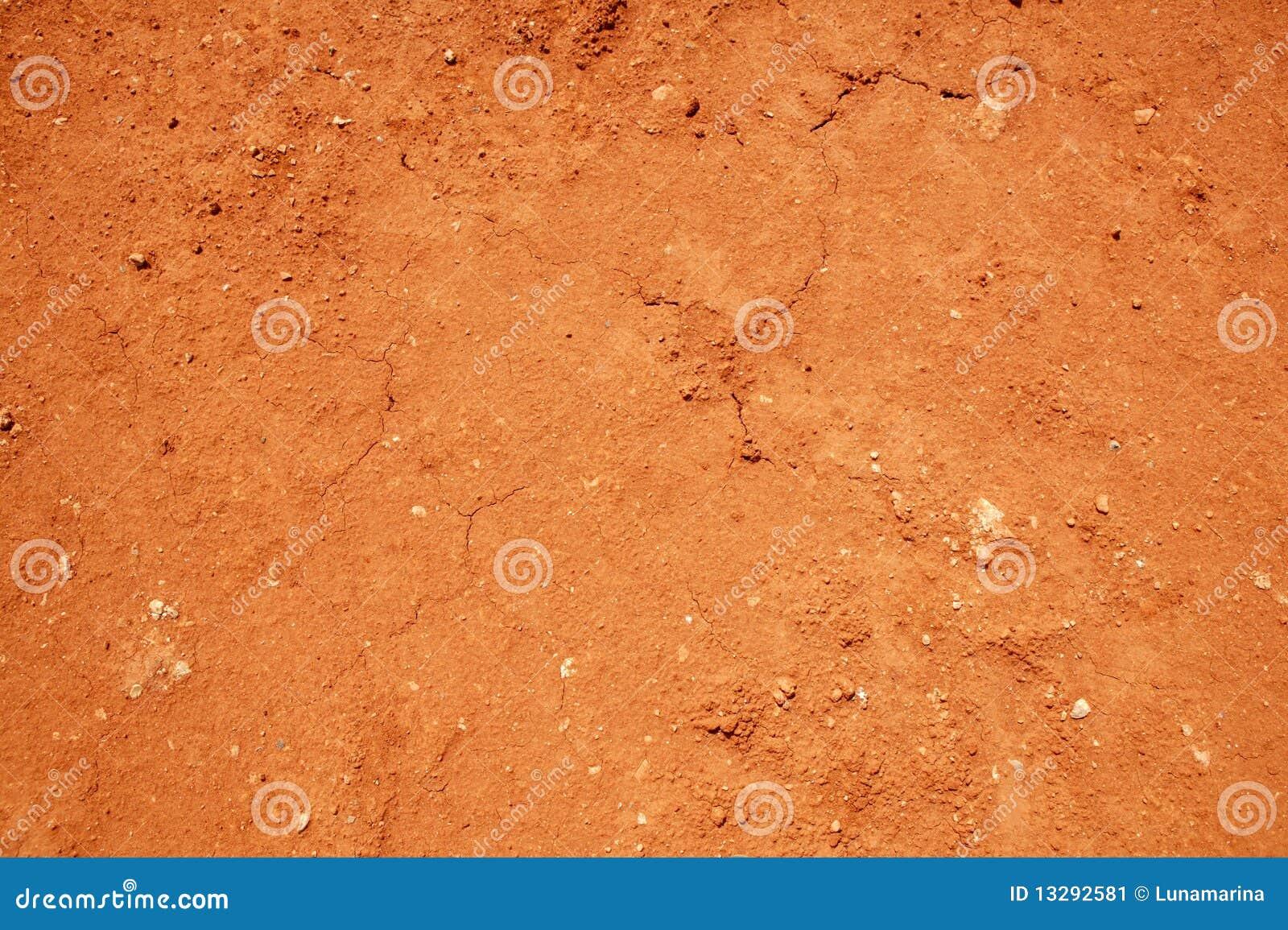 背景黏土干红色土壤纹理
