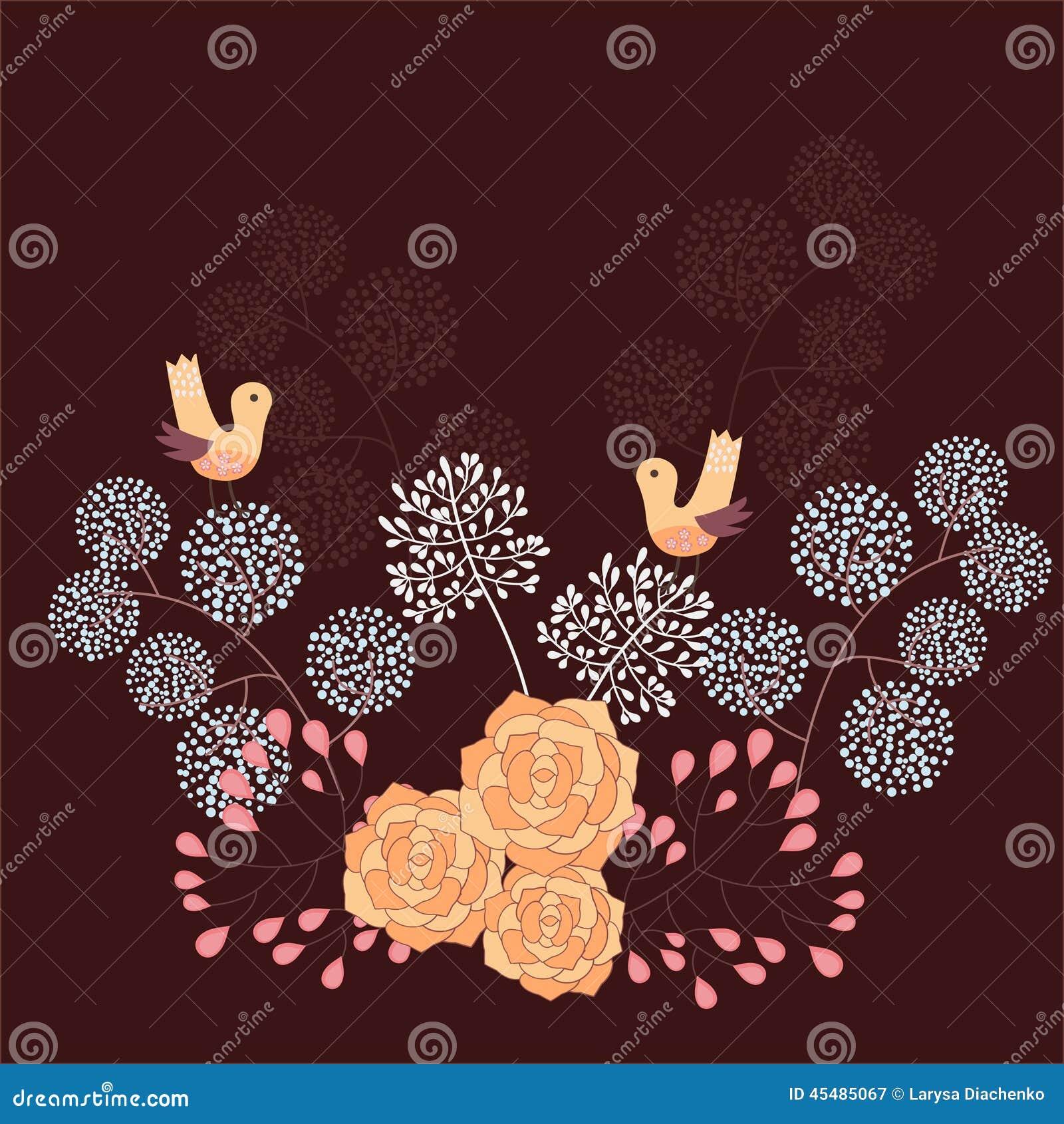 背景细部图花卉向量