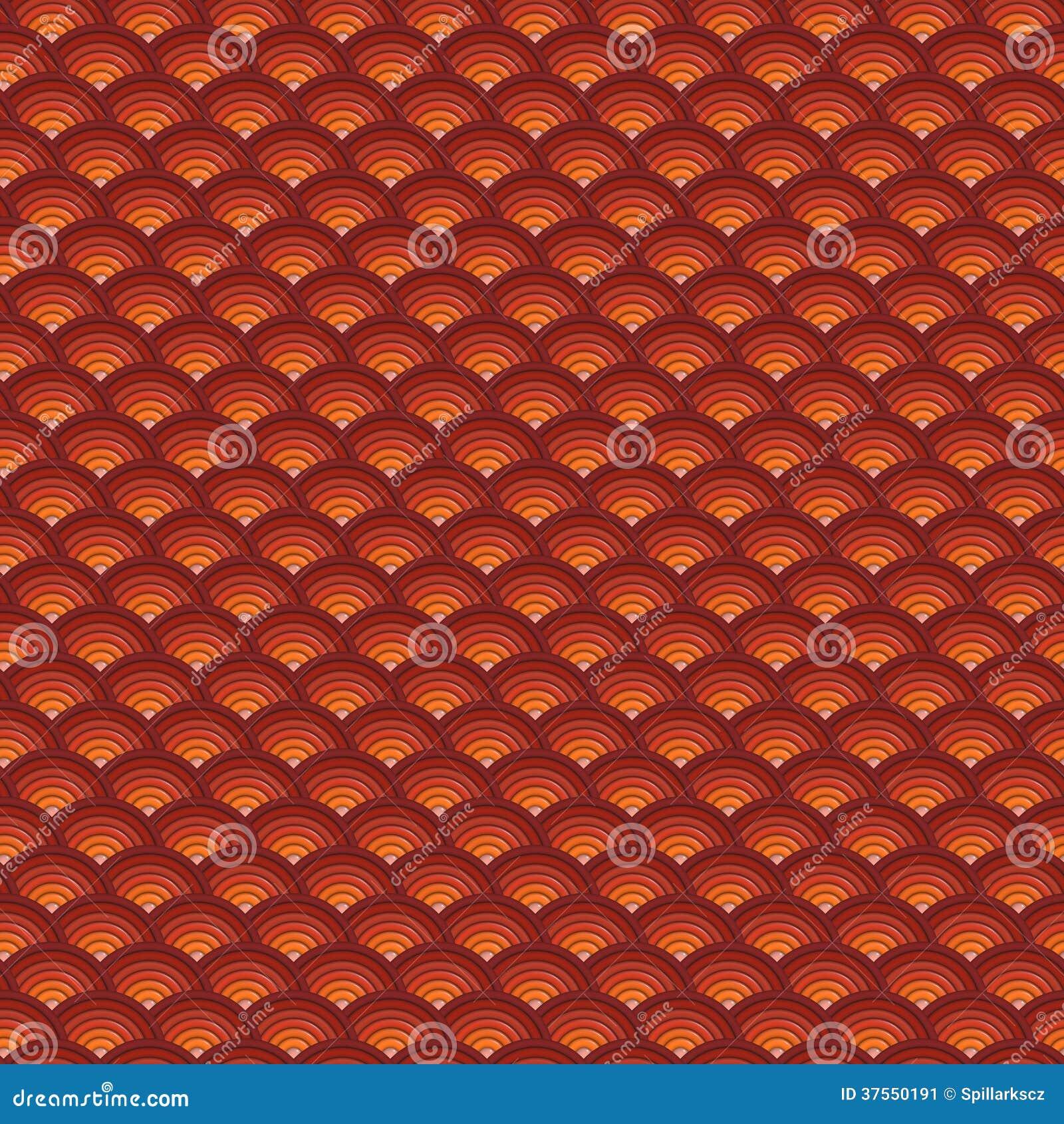 背景3d在橙红的同心管子样式