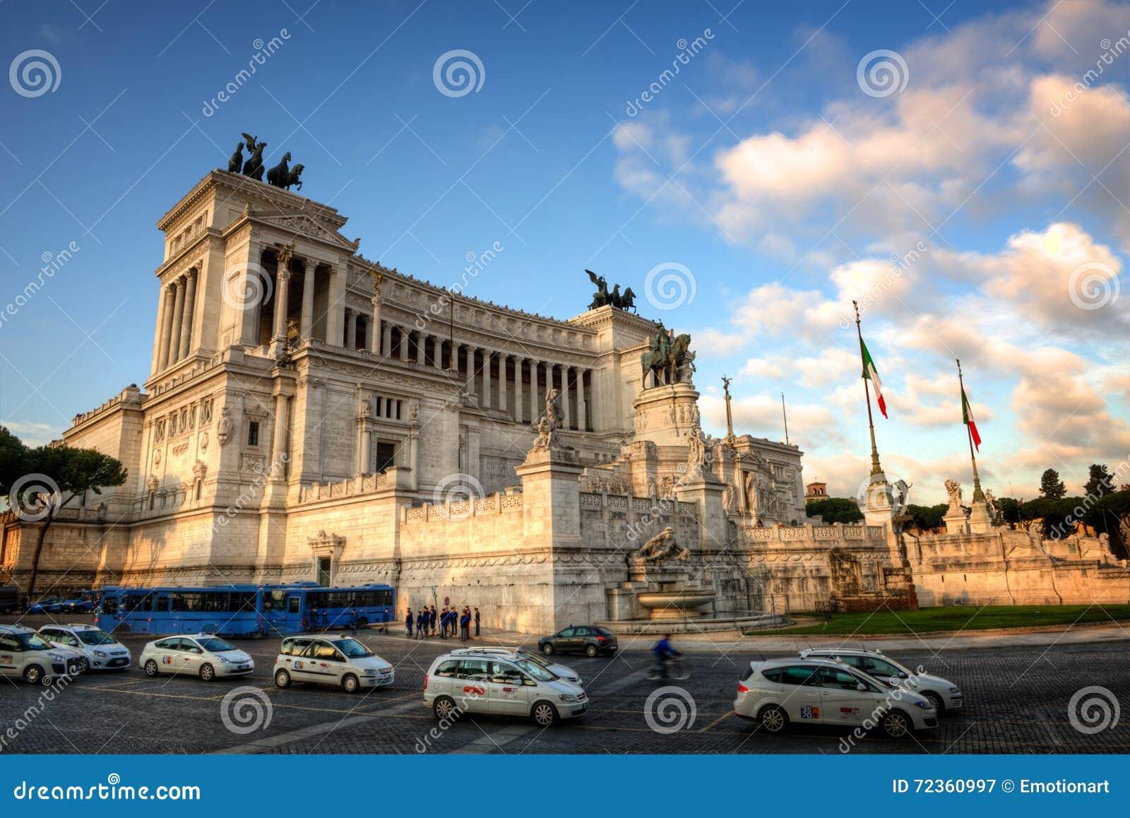 胜者伊曼纽尔II纪念碑在罗马,意大利