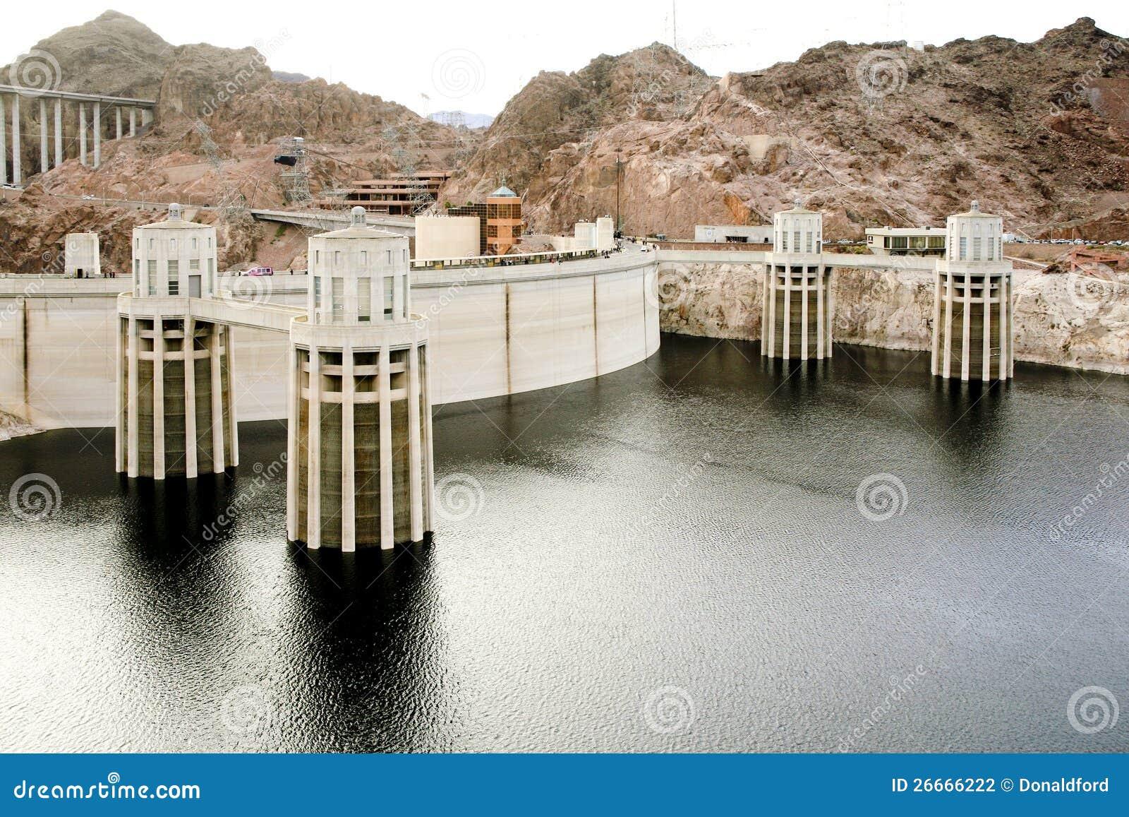 胡佛水坝的全视图