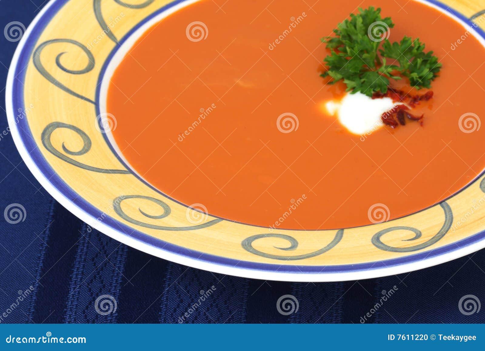胡椒红色烤汤蕃茄