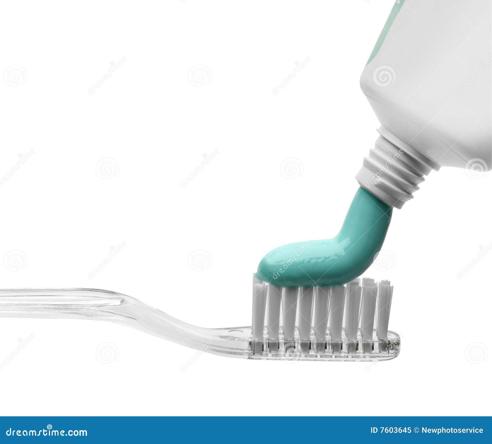 胶凝体粘贴牙刷