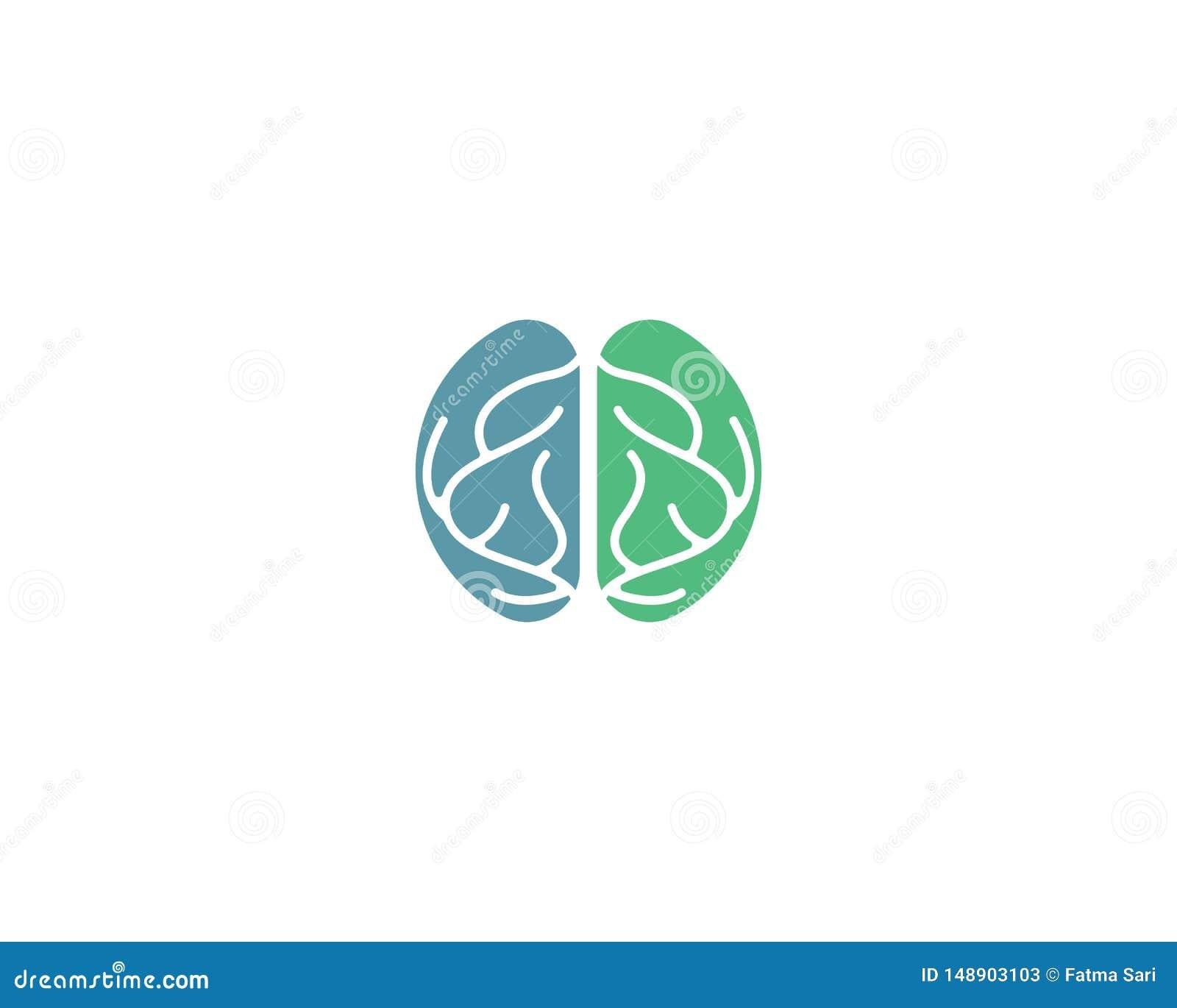 脑子商标模板