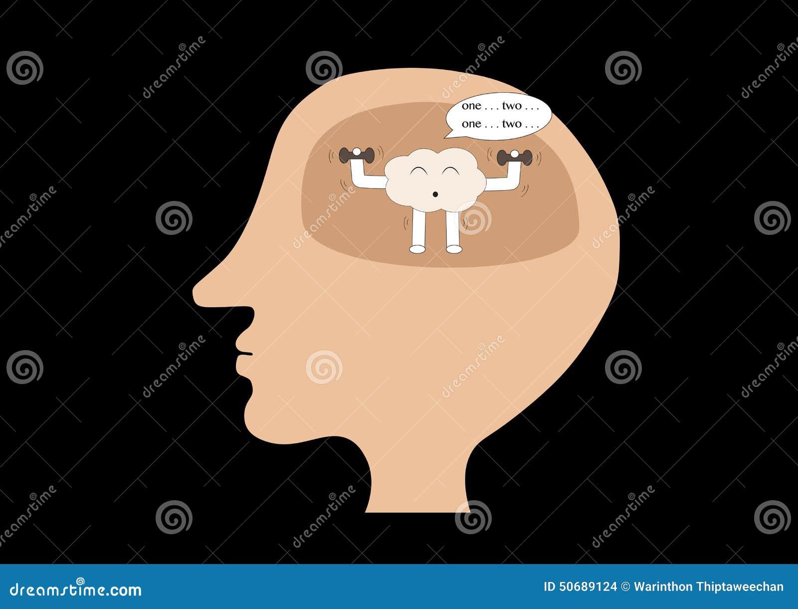 Download 脑子在人头里面的动画片锻炼 向量例证. 插画 包括有 人力, 体育运动, 头脑, 抽象, 科学, 动画片 - 50689124