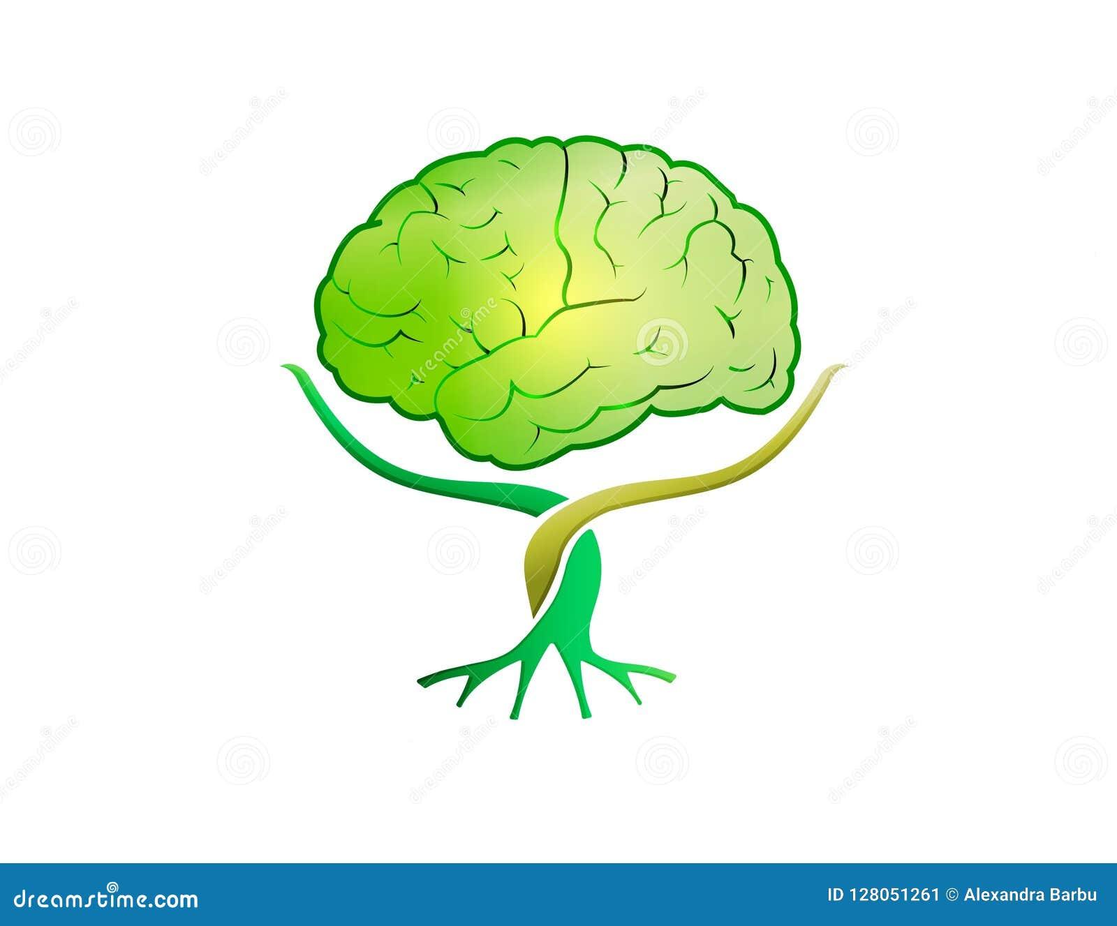 脑子树绿色商标