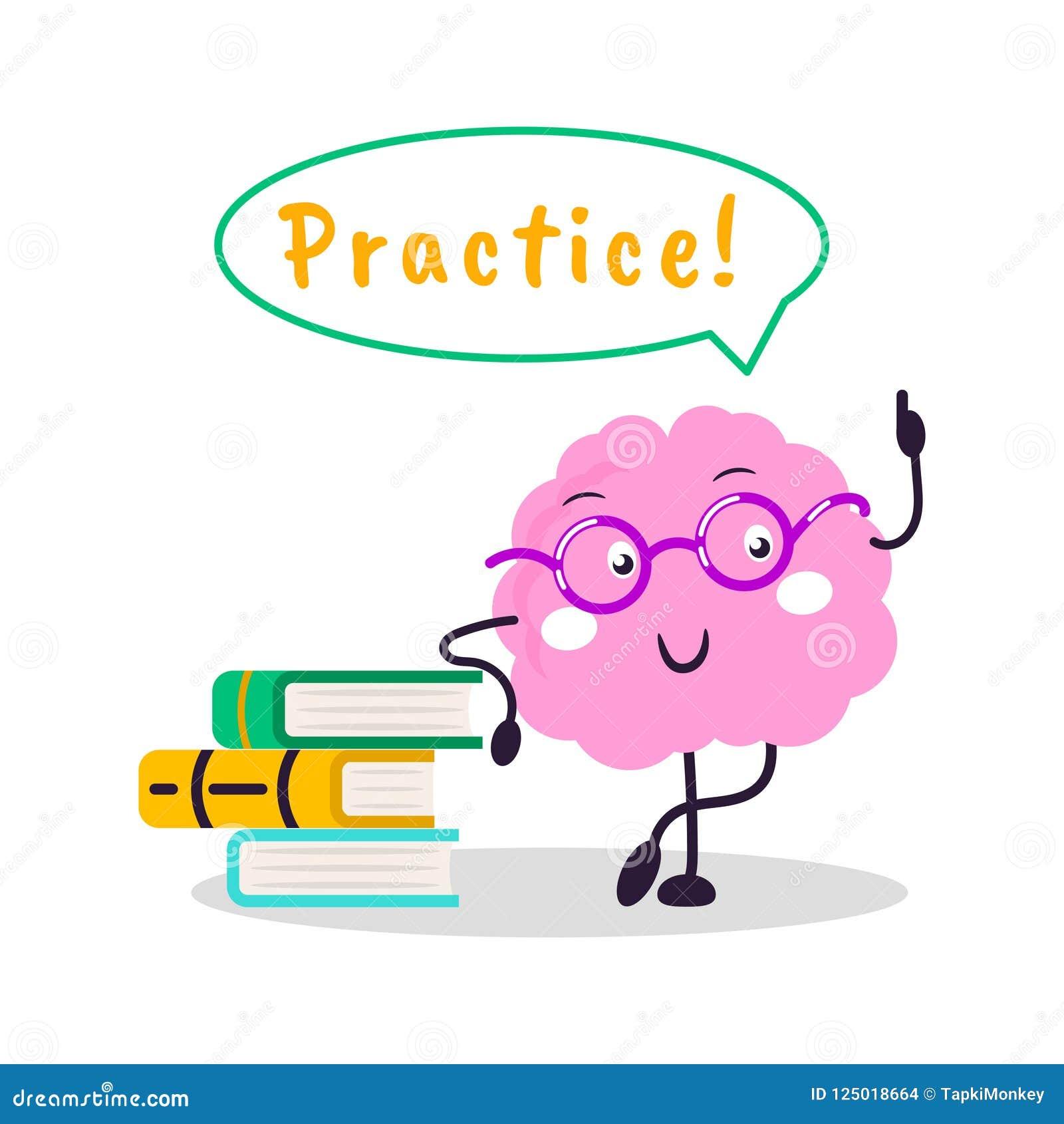 脑子训练传染媒介乐趣字符动画片平的例证