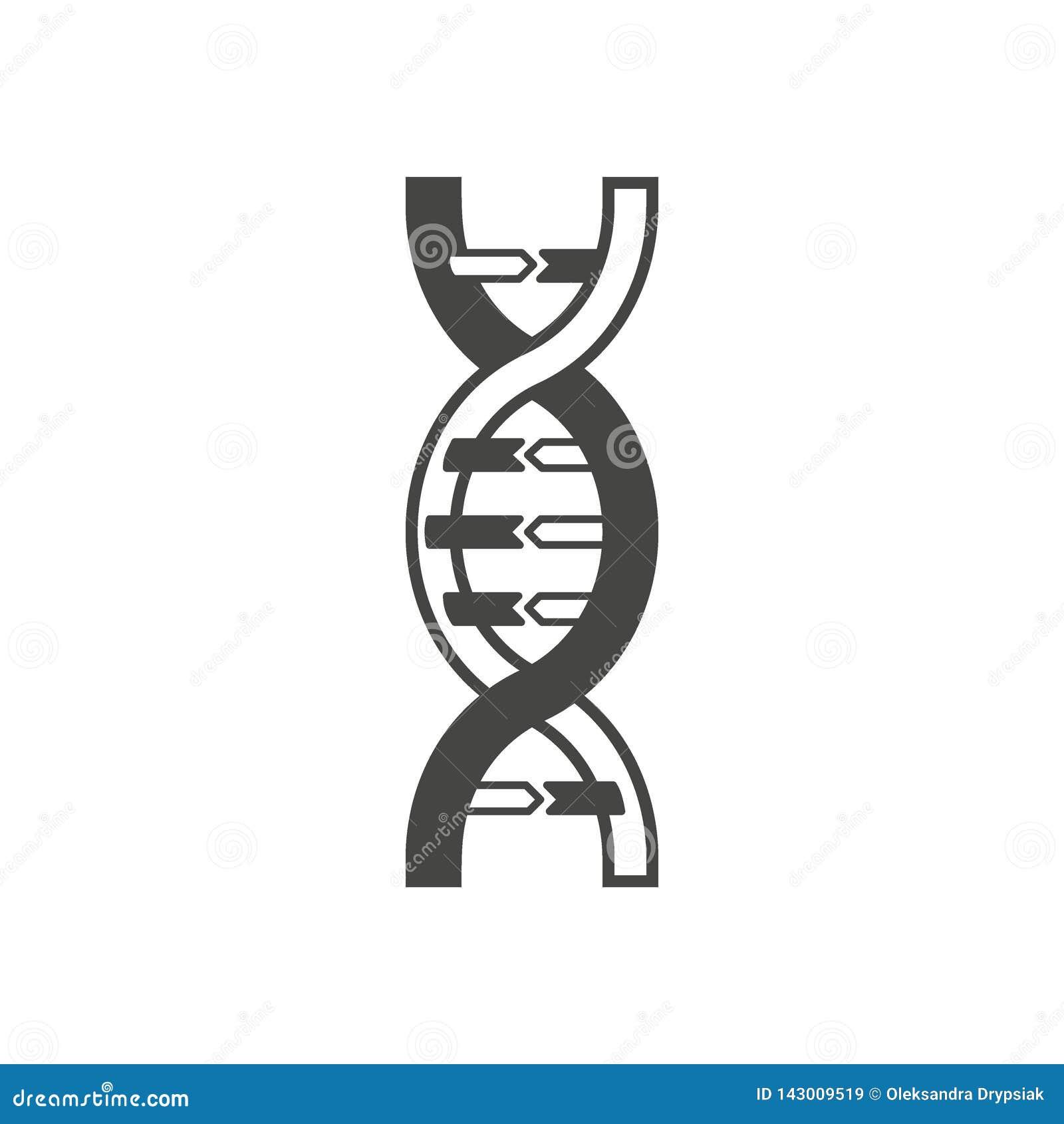 脱氧核糖核酸螺旋标志、商标或者纹身花刺概念