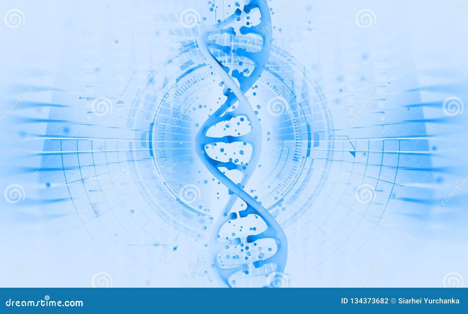 脱氧核糖核酸螺旋 高科技技术在遗传工程领域 在人工智能的工作