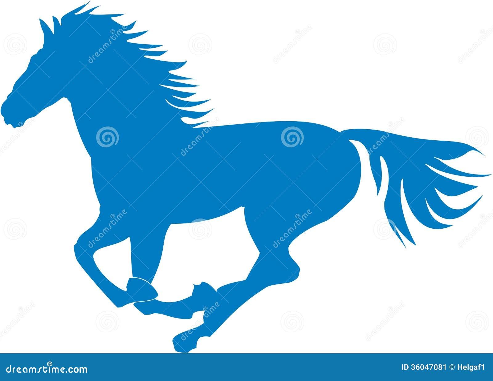 传染视角女生.腾跃的例证马的蓝色.文以剪影媒介辣图片