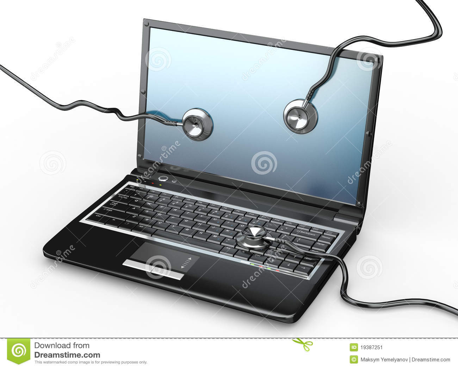 膝上型计算机修理公司听诊器