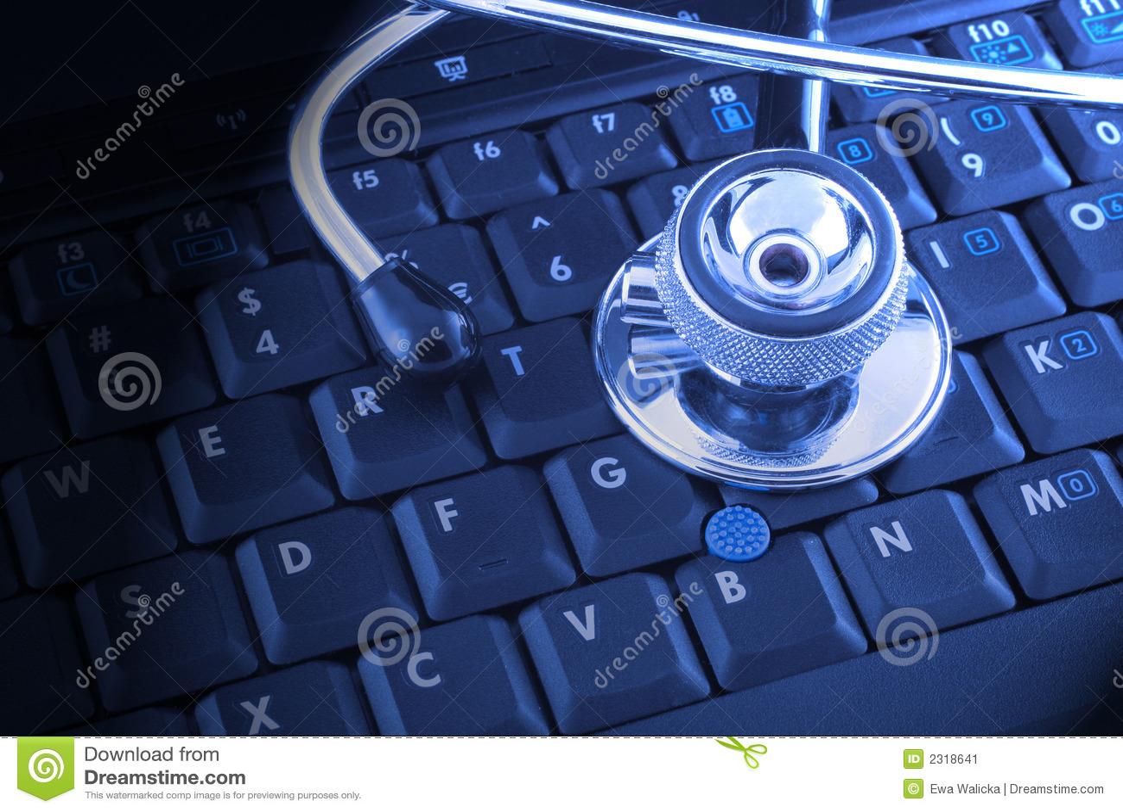 膝上型计算机听诊器