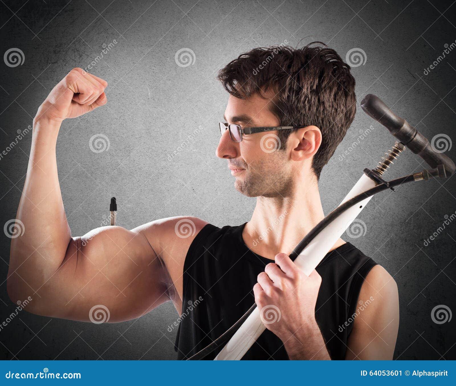 膨胀的肌肉
