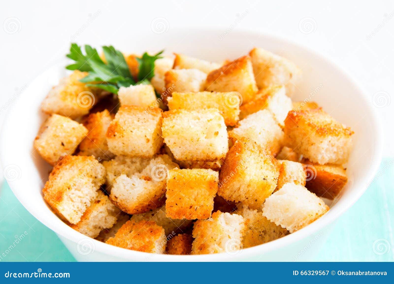 自创法国油煎方型小面包片