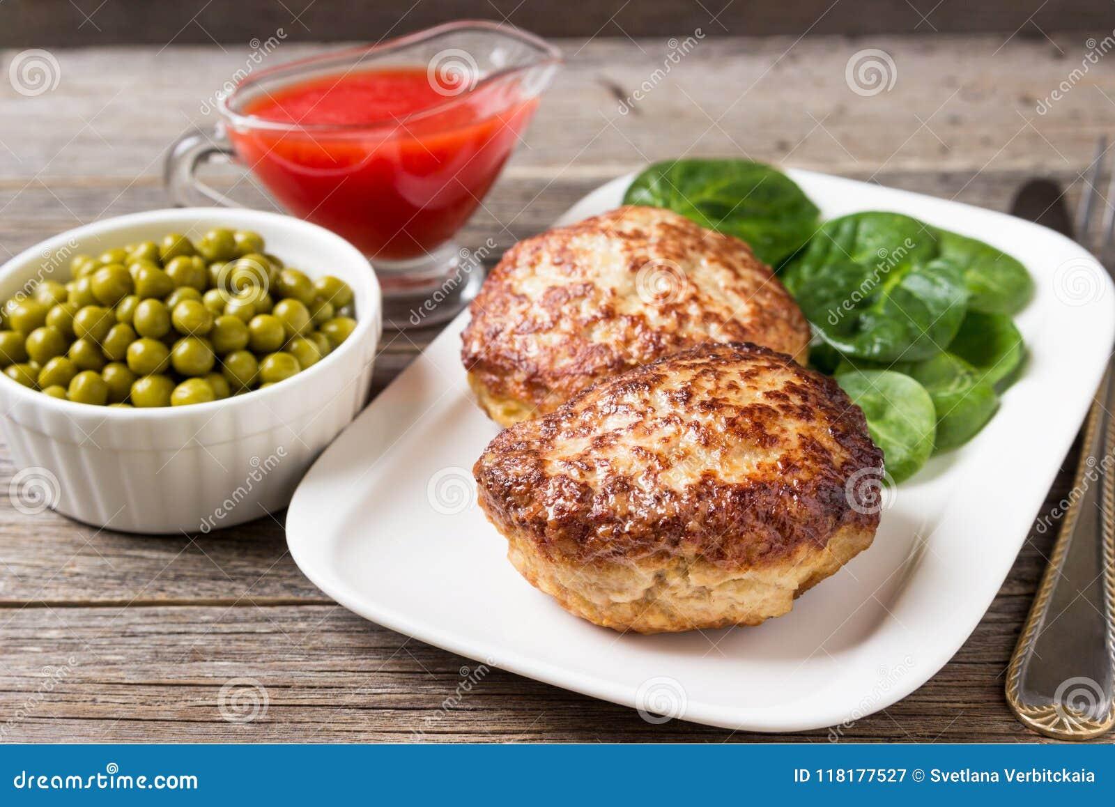 自创炸肉排用在板材的沙拉