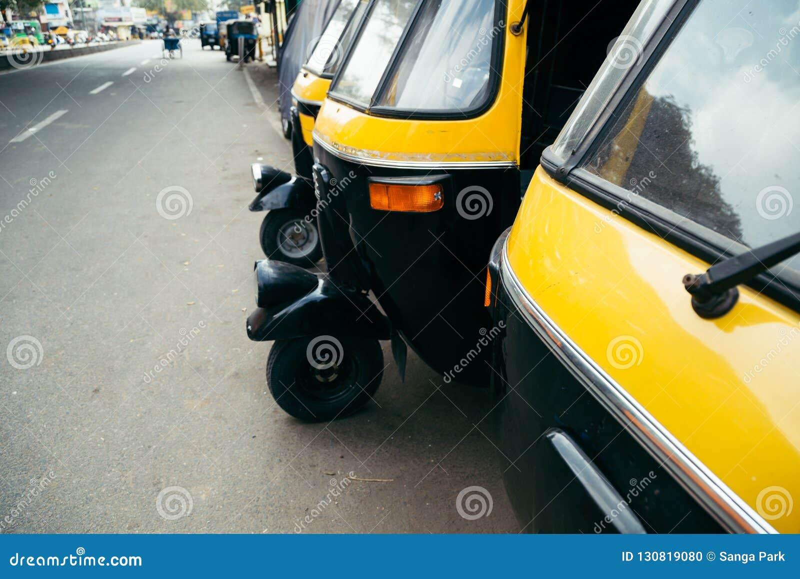 自动人力车在班加罗尔,印度