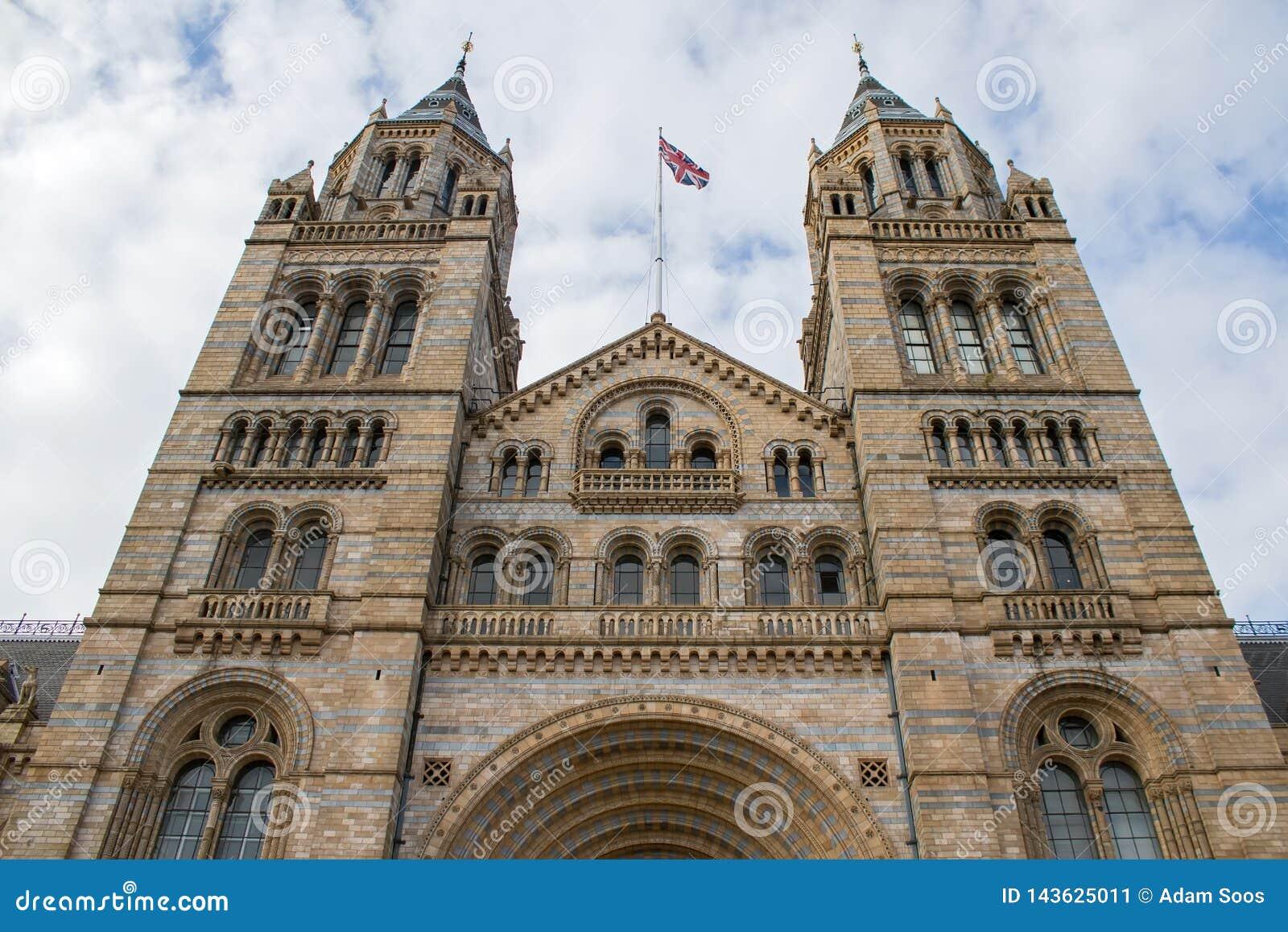 自然历史博物馆在伦敦