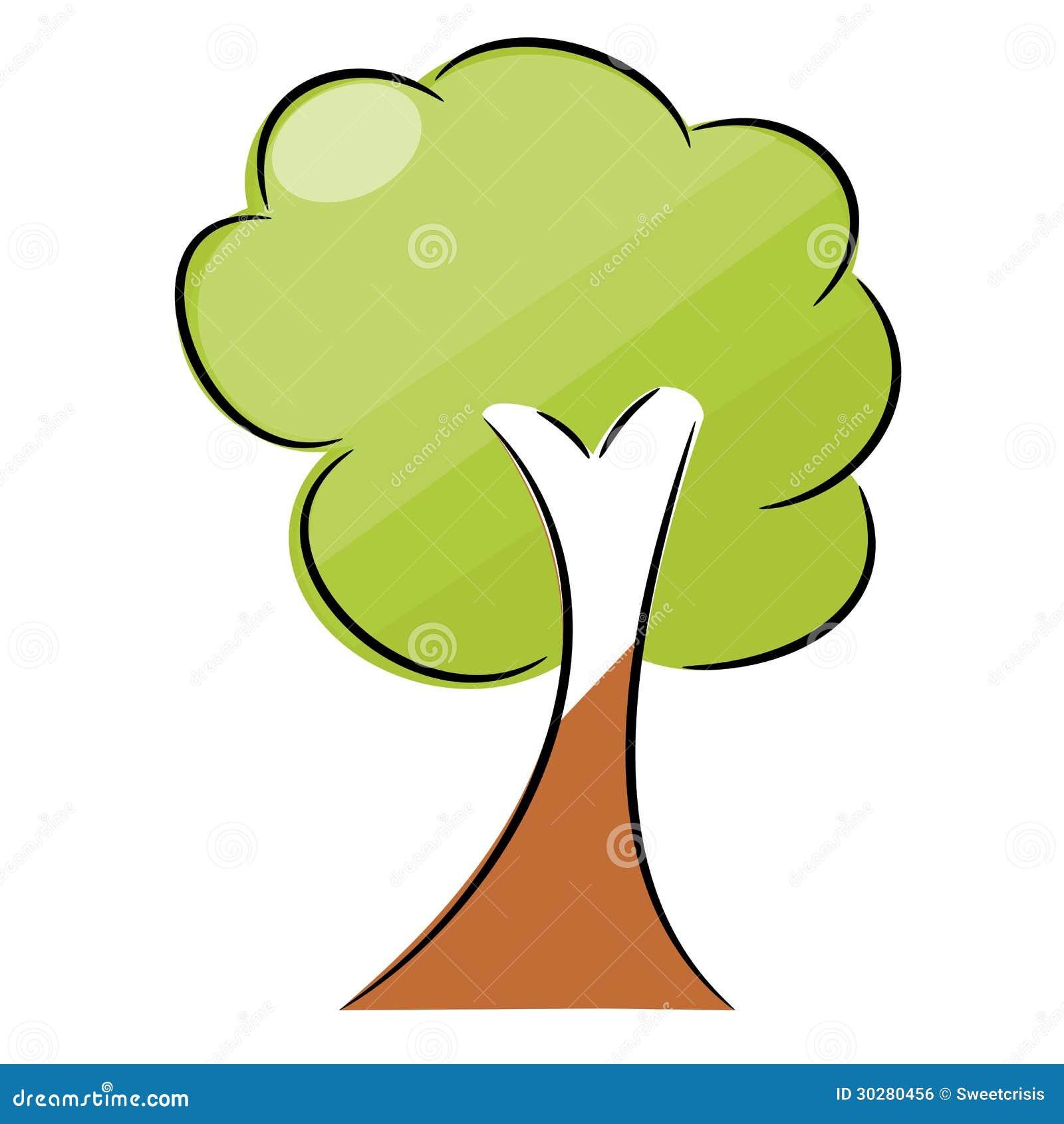 自然树标志例证