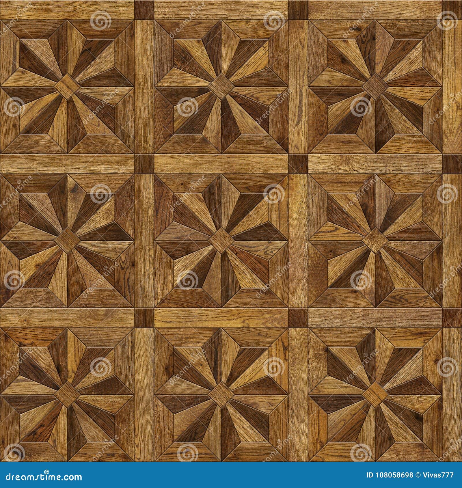自然木背景八针对性的星, 3d内部的难看的东西木条地板地板设计无缝的纹理