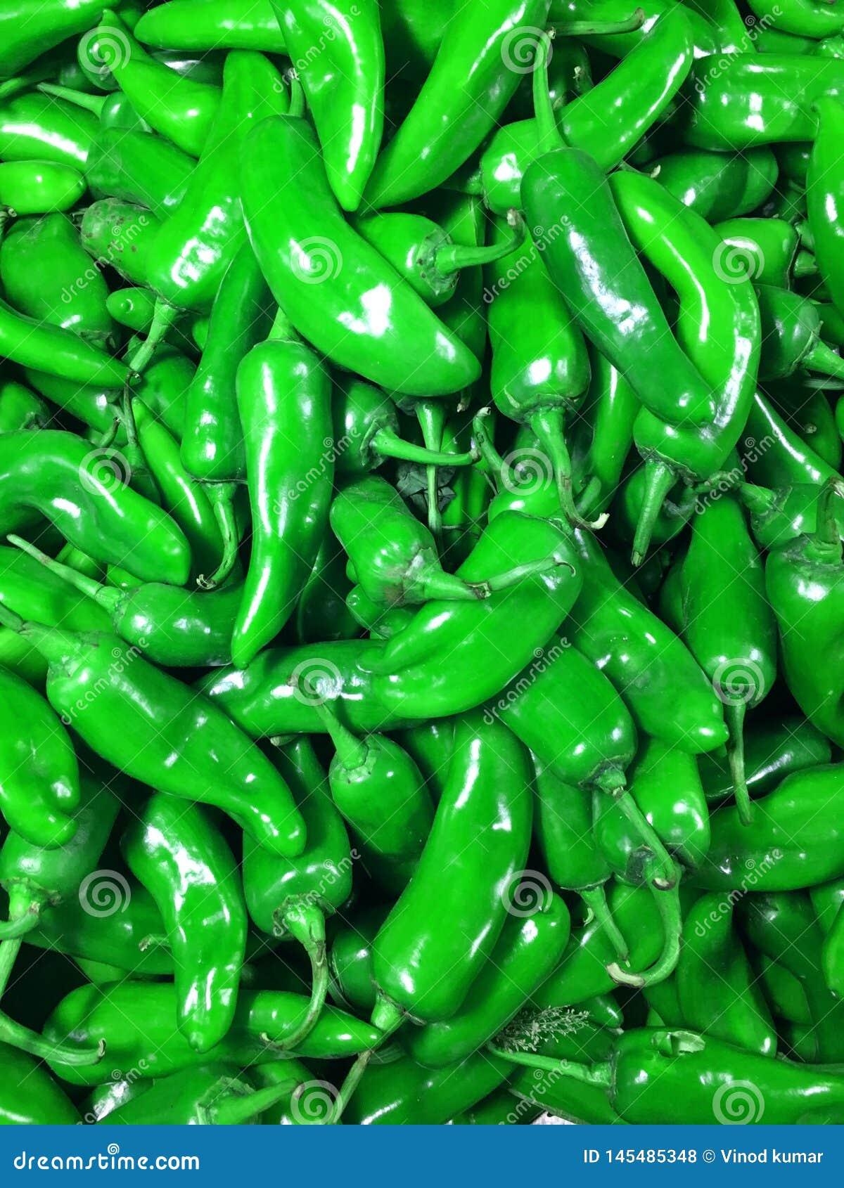 自然绿色辣椒