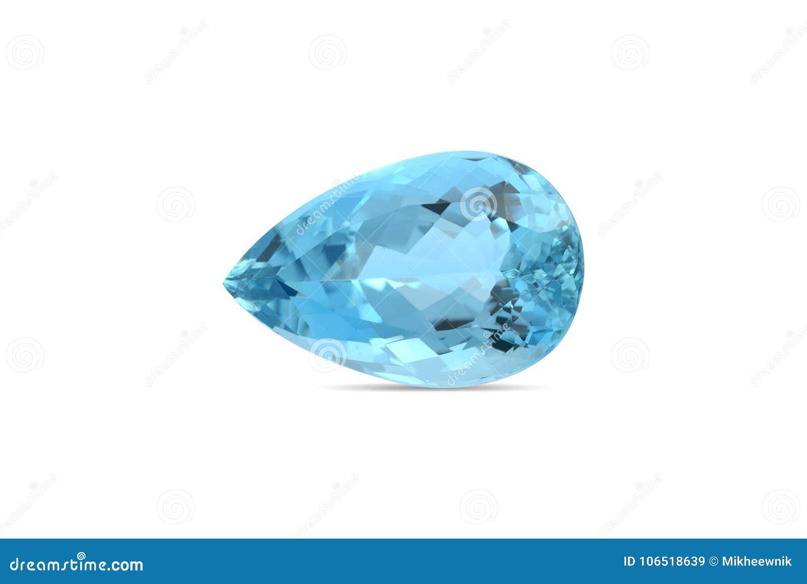 自然蓝绿色宝石