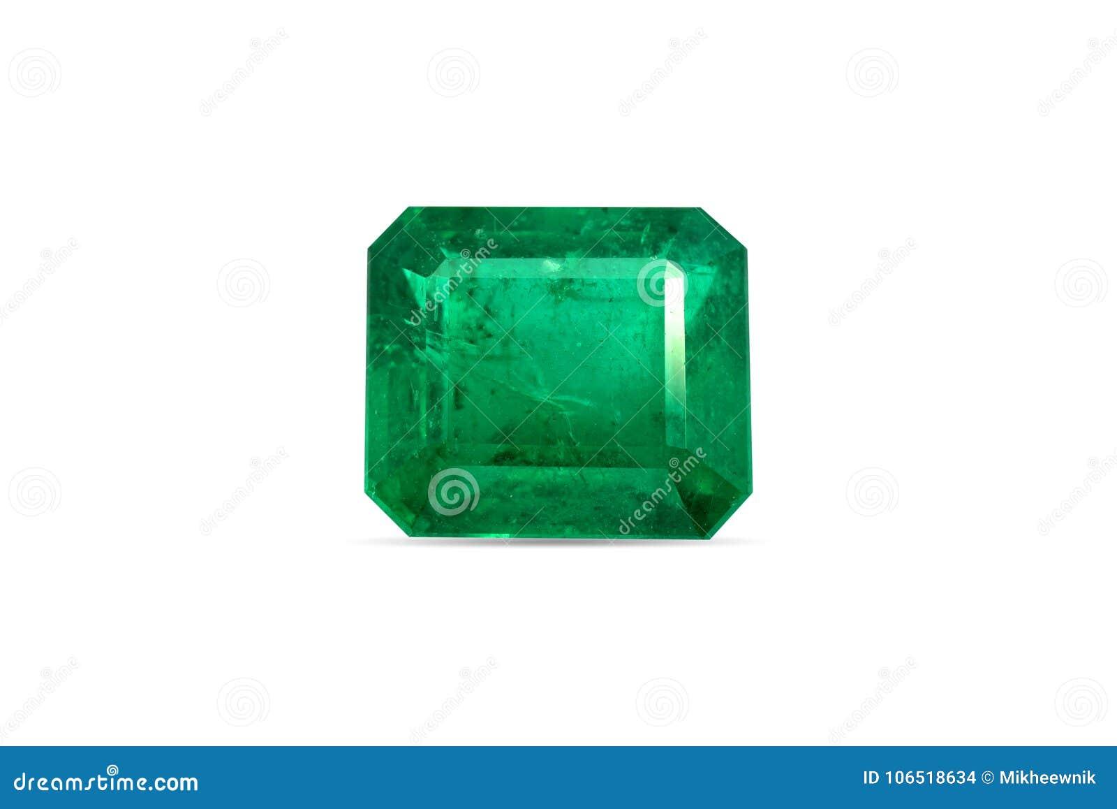 自然鲜绿色宝石