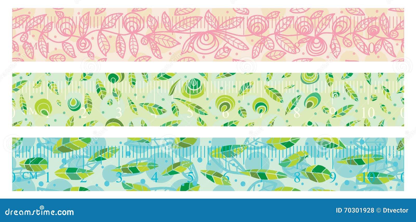 自然washi纸带集合无缝的样式