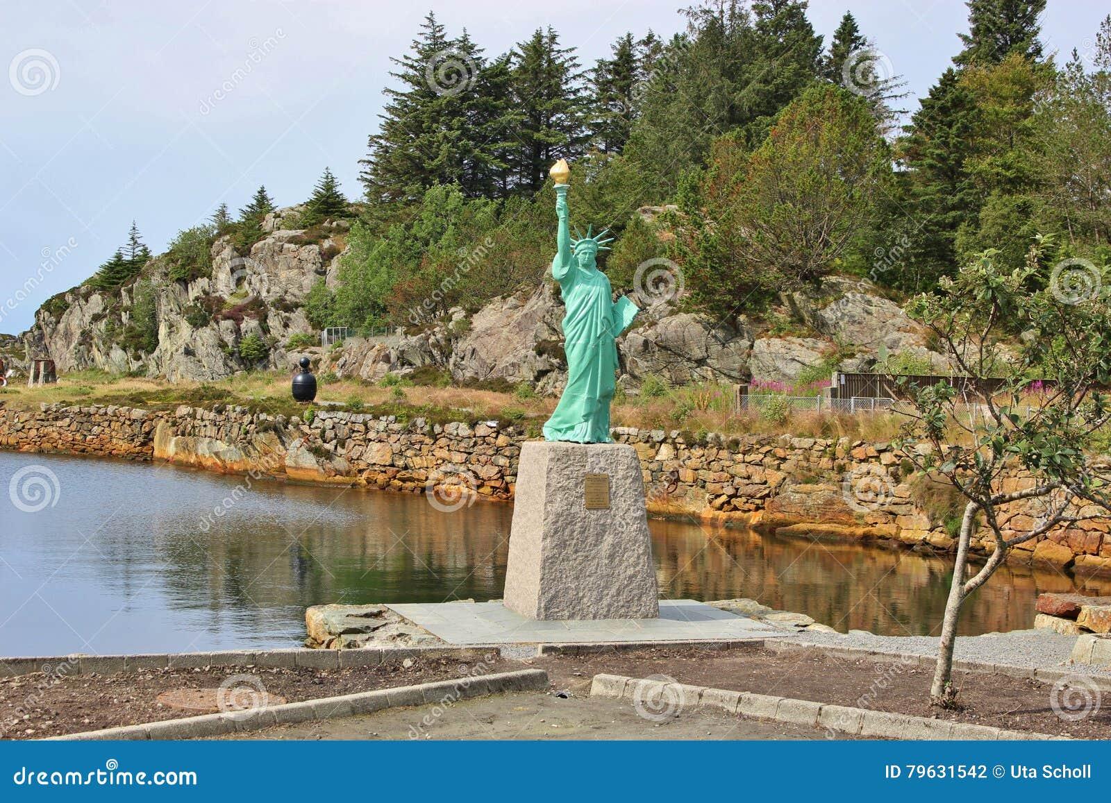 自由女神像的复制品,挪威