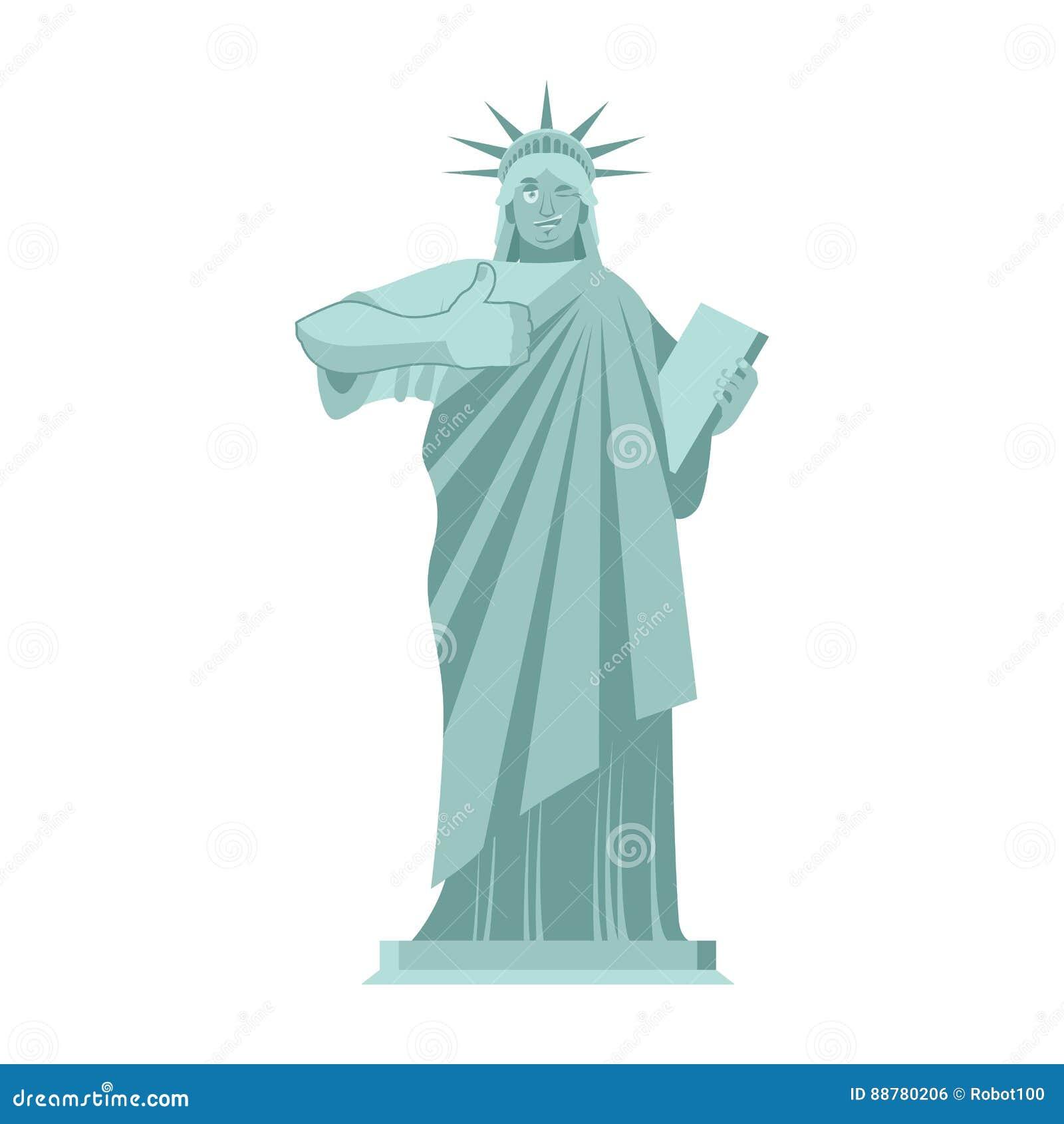 自由女神像闪光 赞许地标美国 雕塑