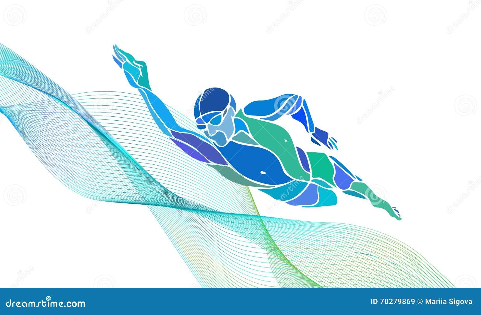 自由式游泳者剪影 体育游泳 向量例证. 插画 包括有 颜色, 人员, 剪影, 活动家, 对象, 抽象, 种族 ...