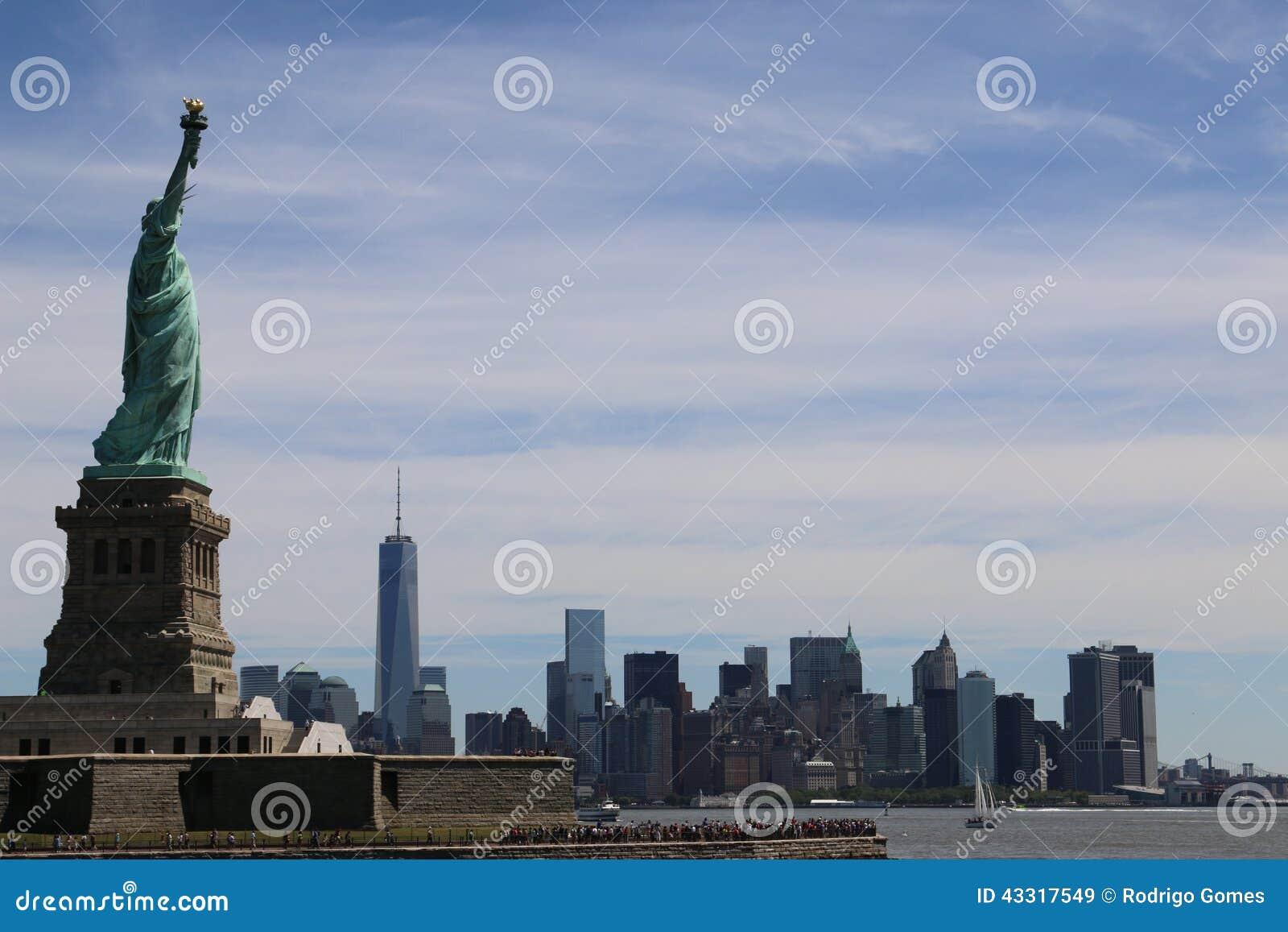 自由曼哈顿地平线雕象