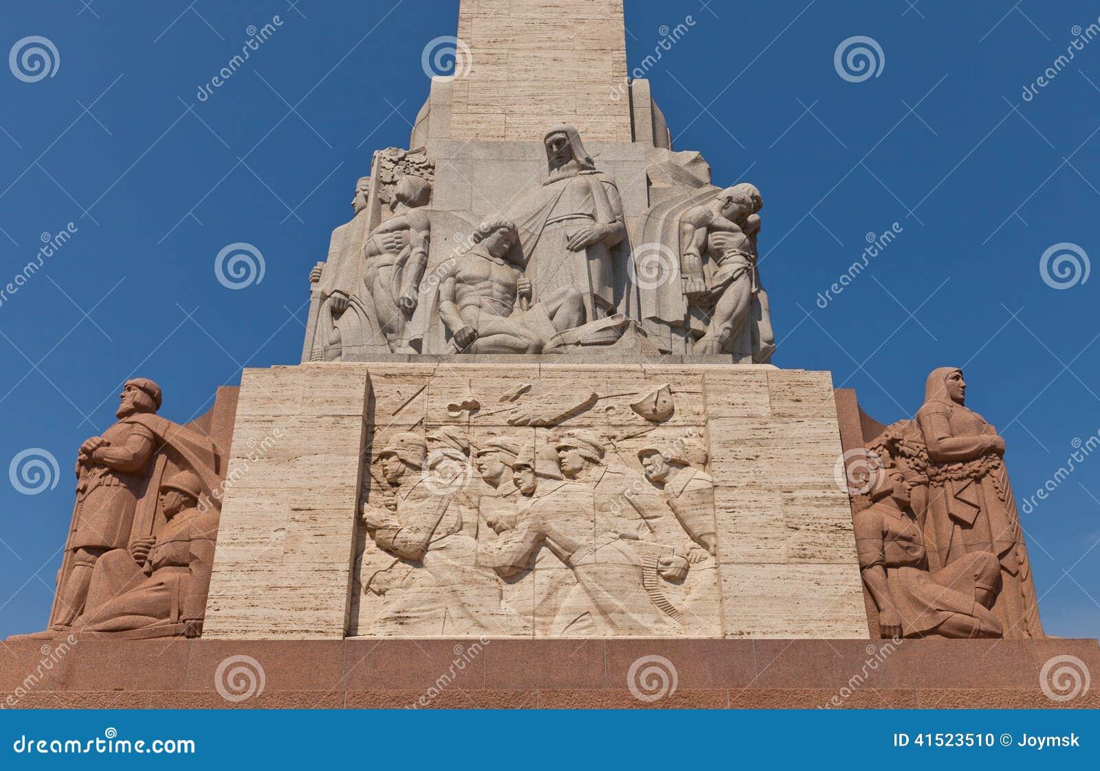 自由纪念碑在里加,拉脱维亚(片段)